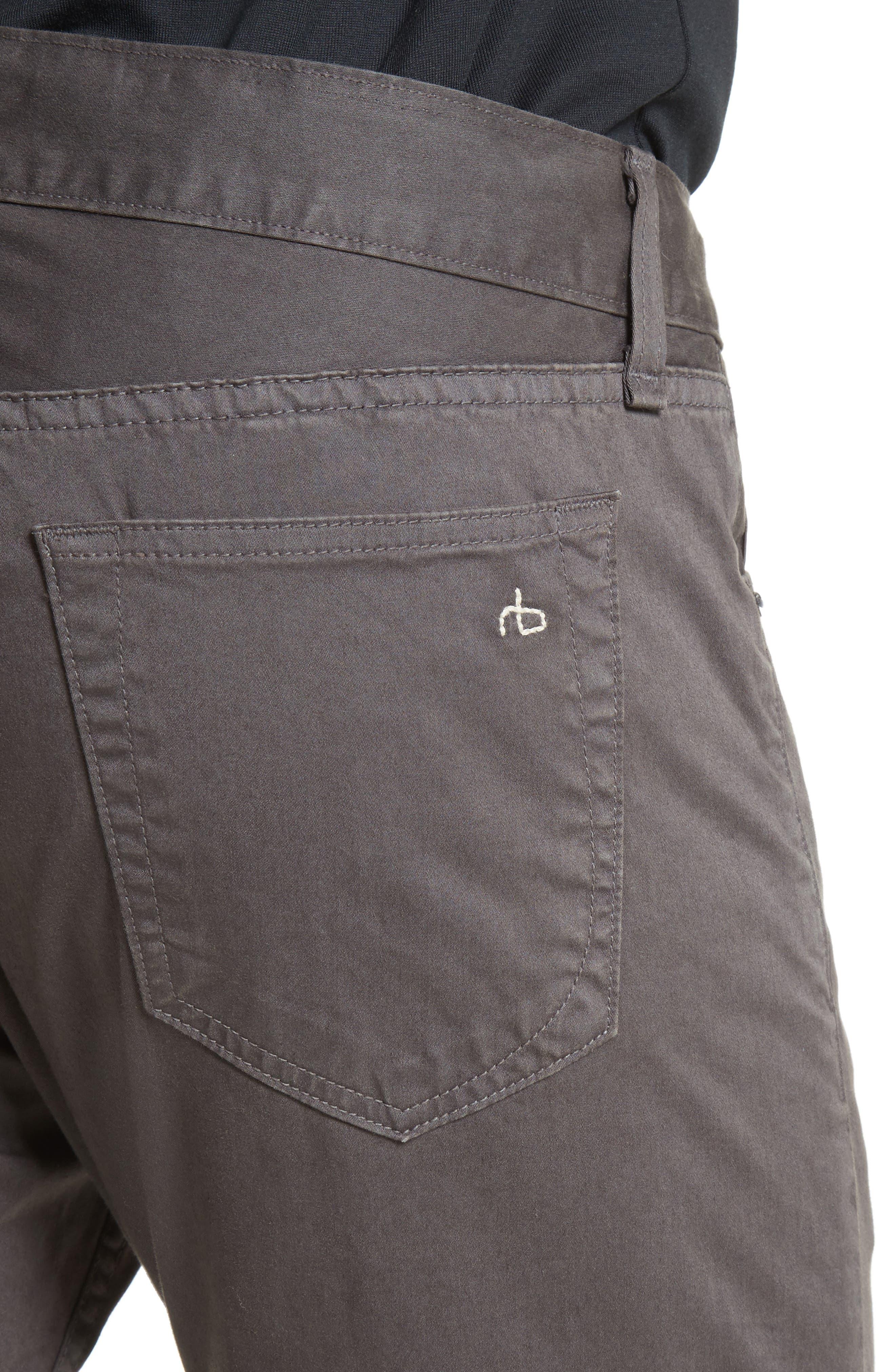 Fit 2 Slim Five-Pocket Pants,                             Alternate thumbnail 4, color,                             GREY
