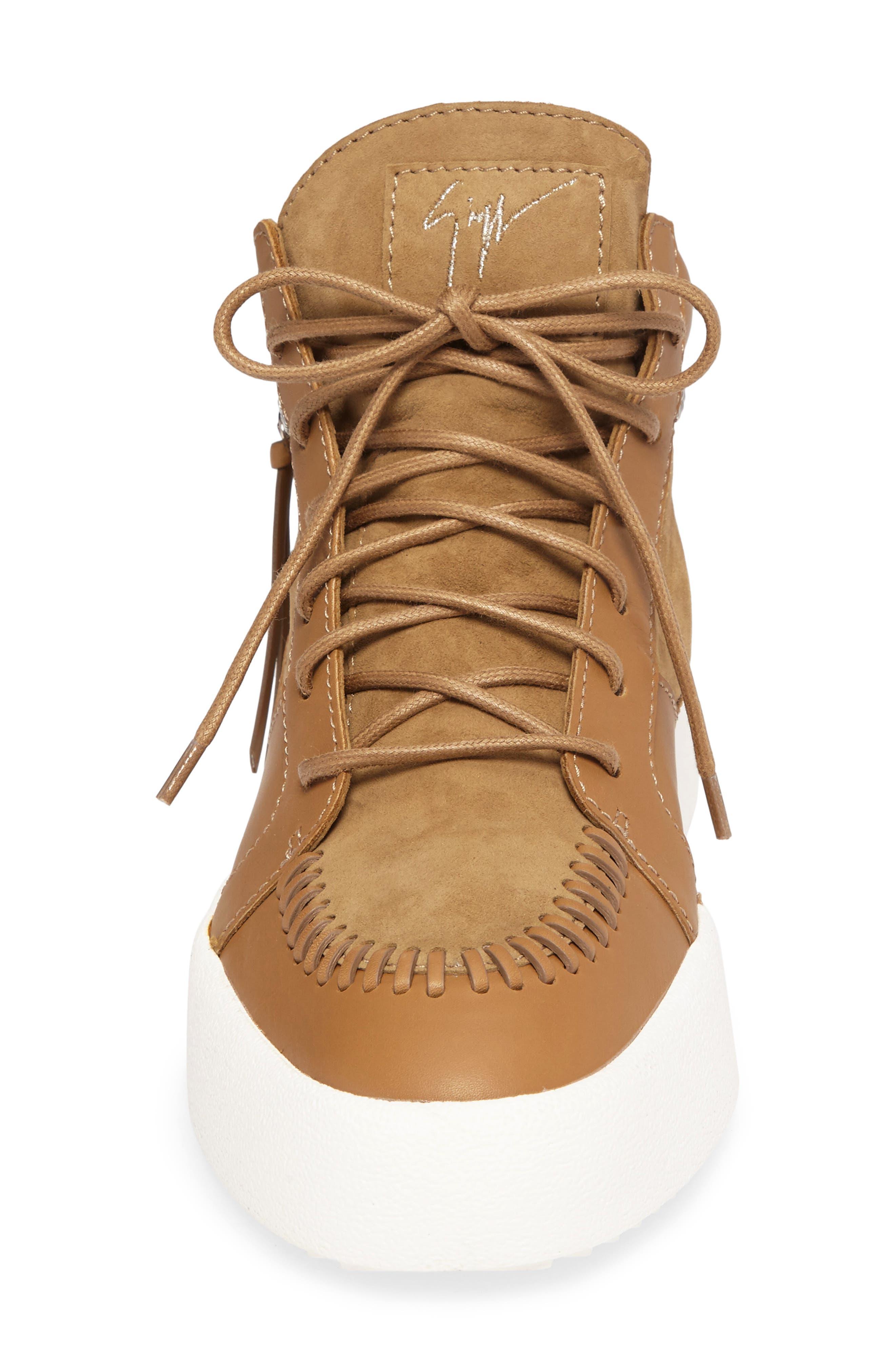 Mid-Top Sneaker,                             Alternate thumbnail 4, color,                             206