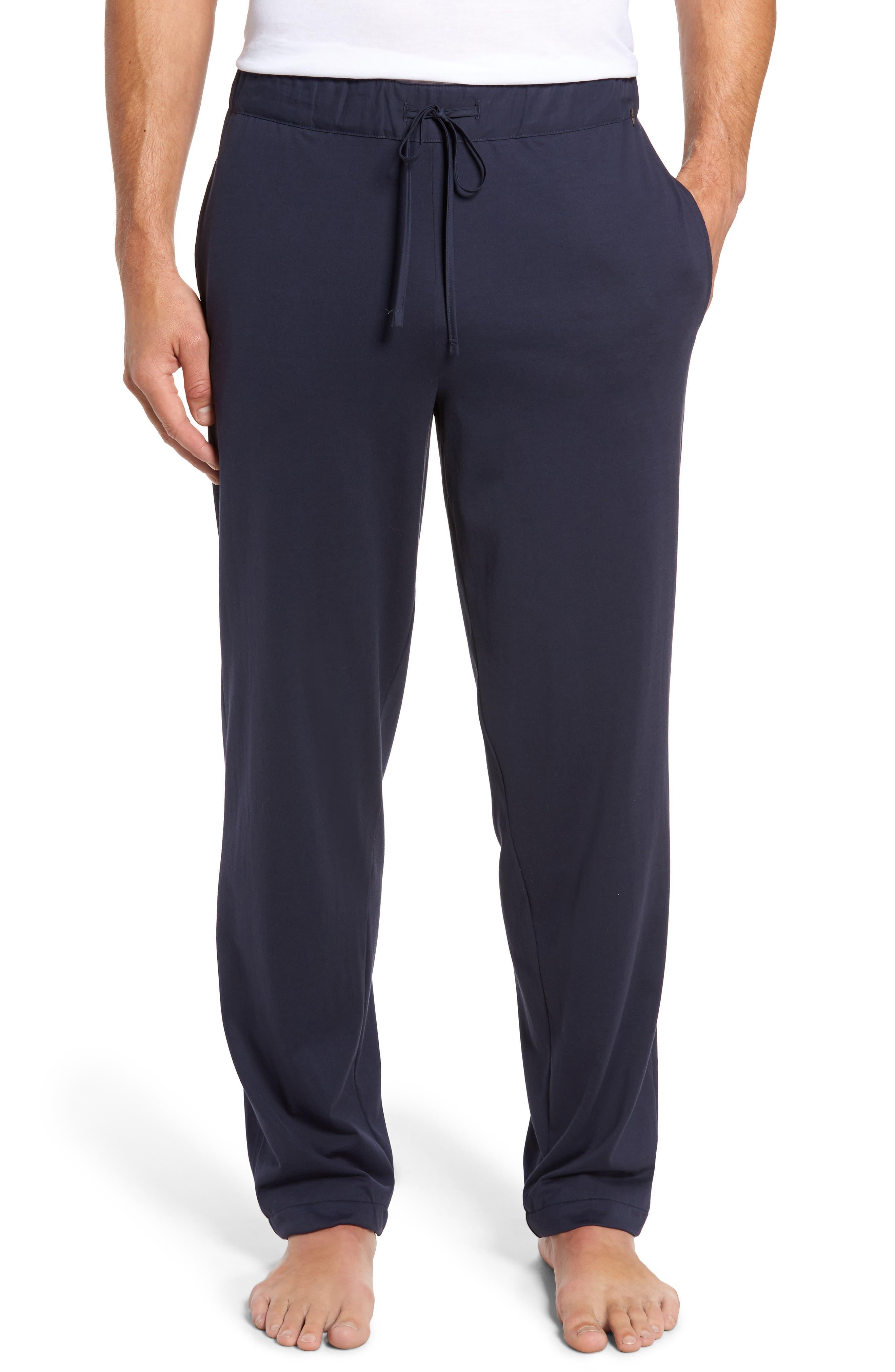 HANRO,                             Night & Day Knit Lounge Pants,                             Main thumbnail 1, color,                             BLACK IRIS