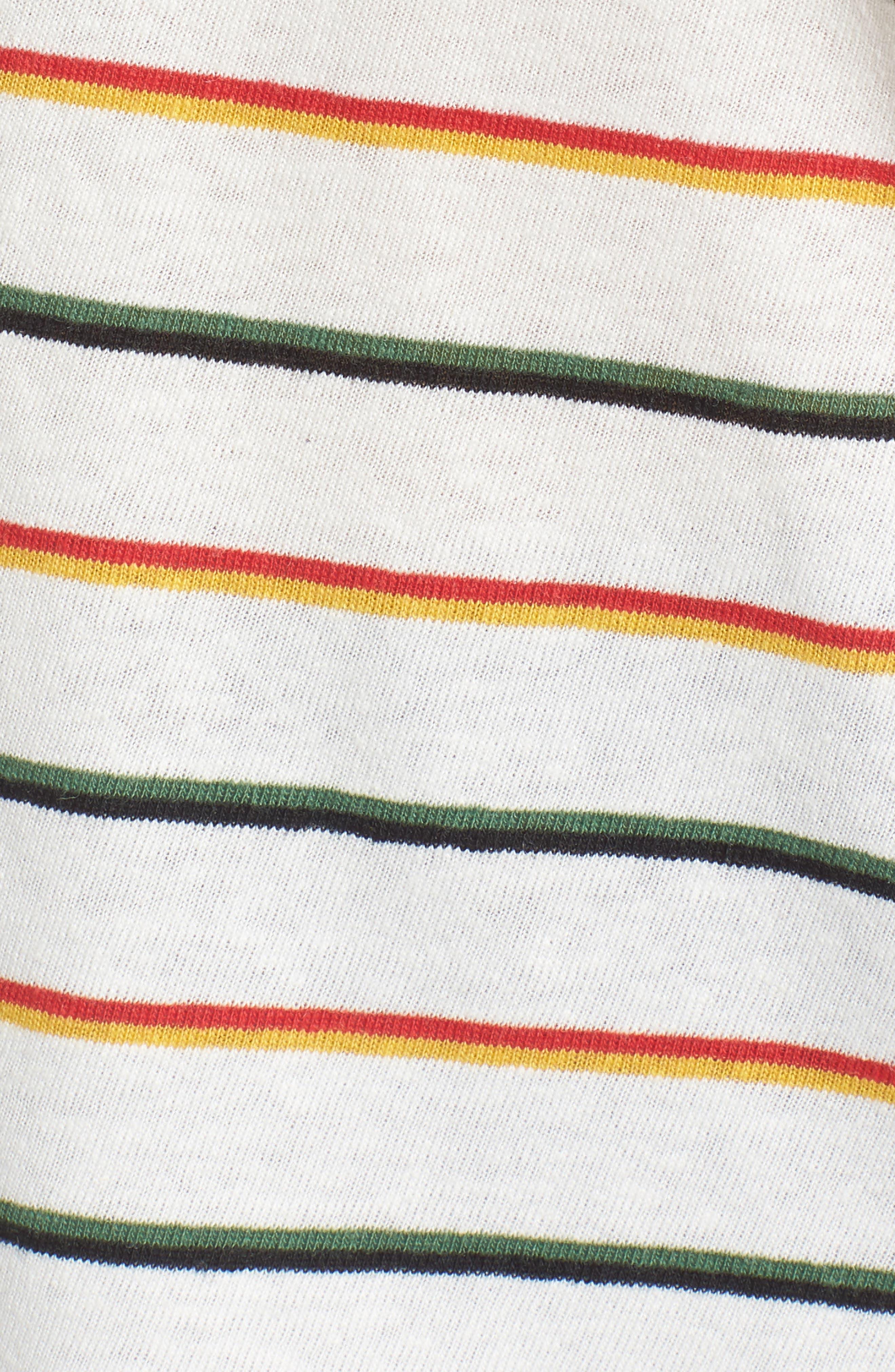 City Walcott Stripe Tee,                             Alternate thumbnail 6, color,                             100