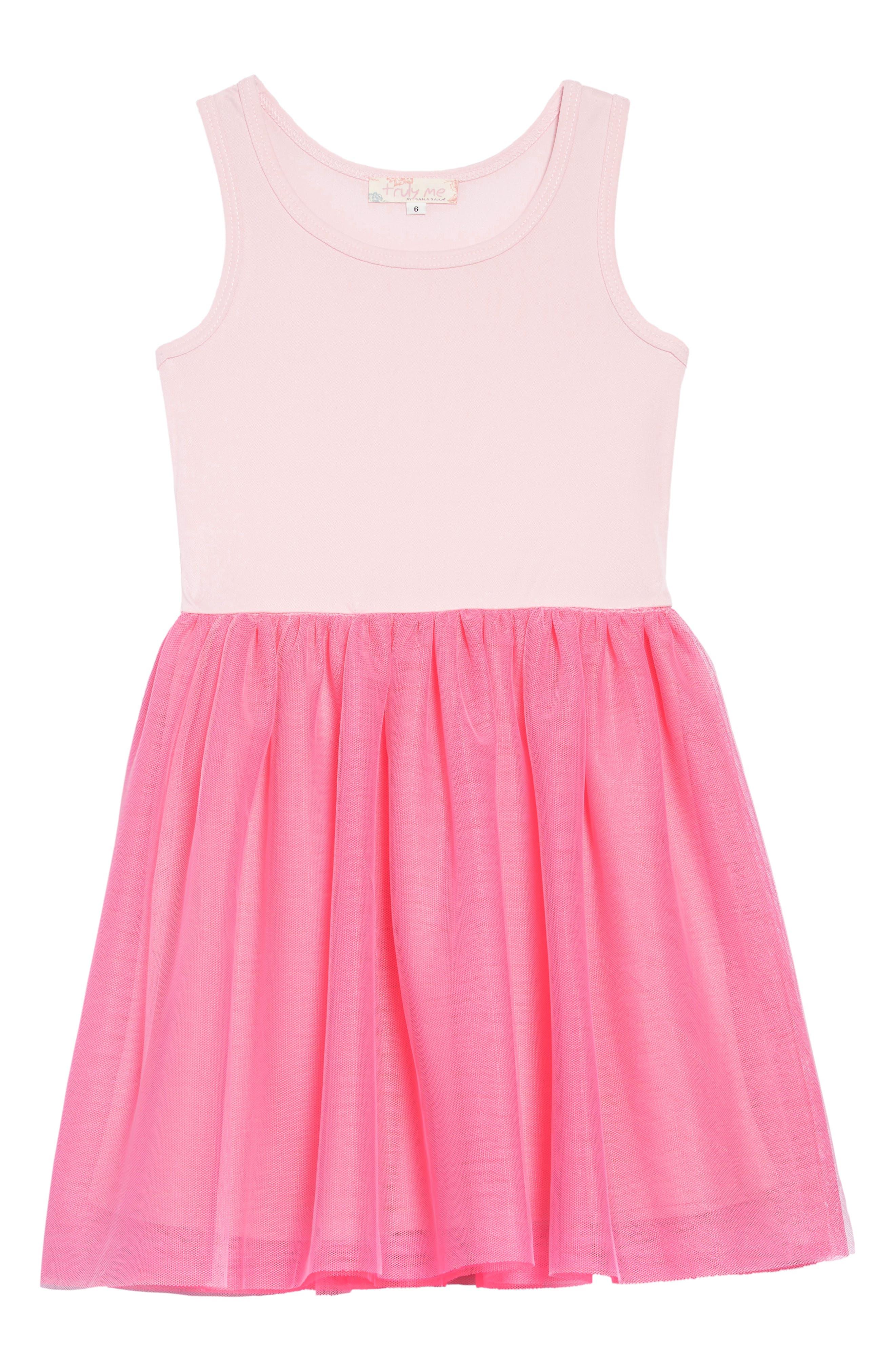 TRULY ME,                             Love Dress Set,                             Alternate thumbnail 3, color,                             GREY PINK