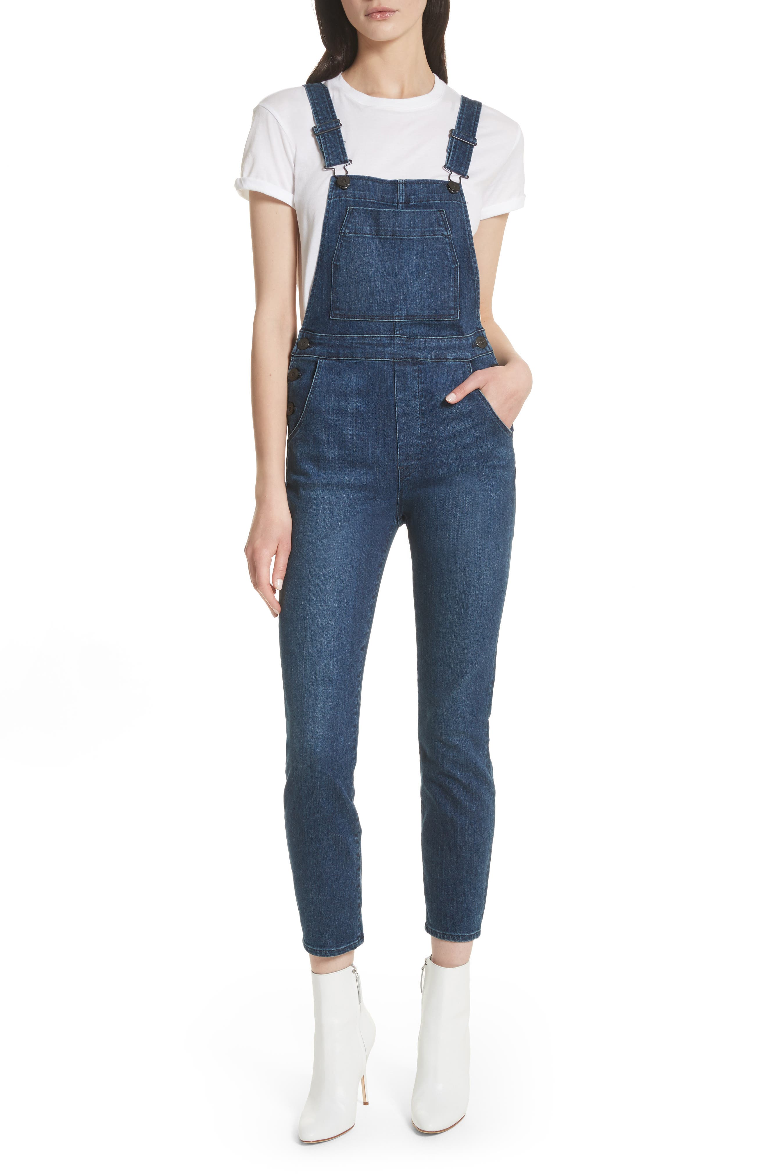 Ruby Denim Overalls,                         Main,                         color, 418