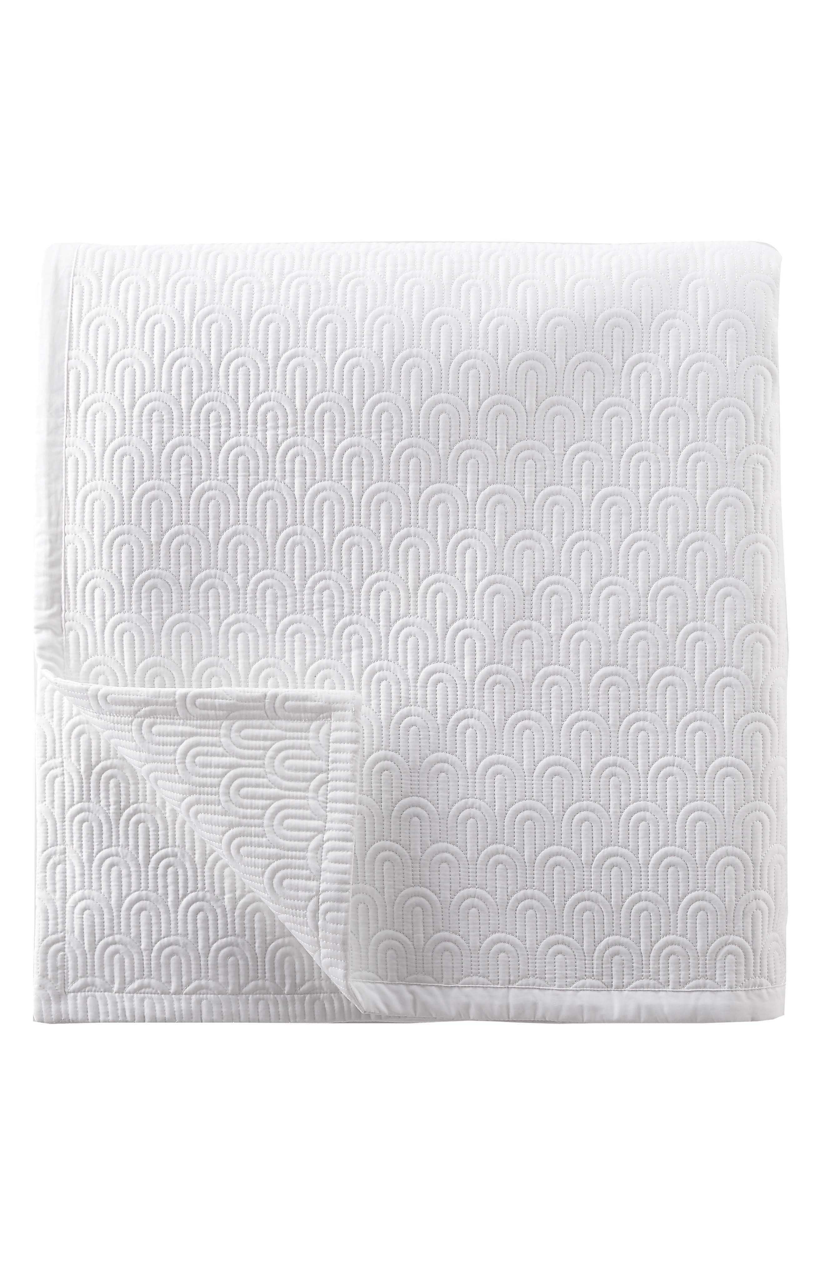 Quilted Coverlet,                             Alternate thumbnail 4, color,                             WHITE