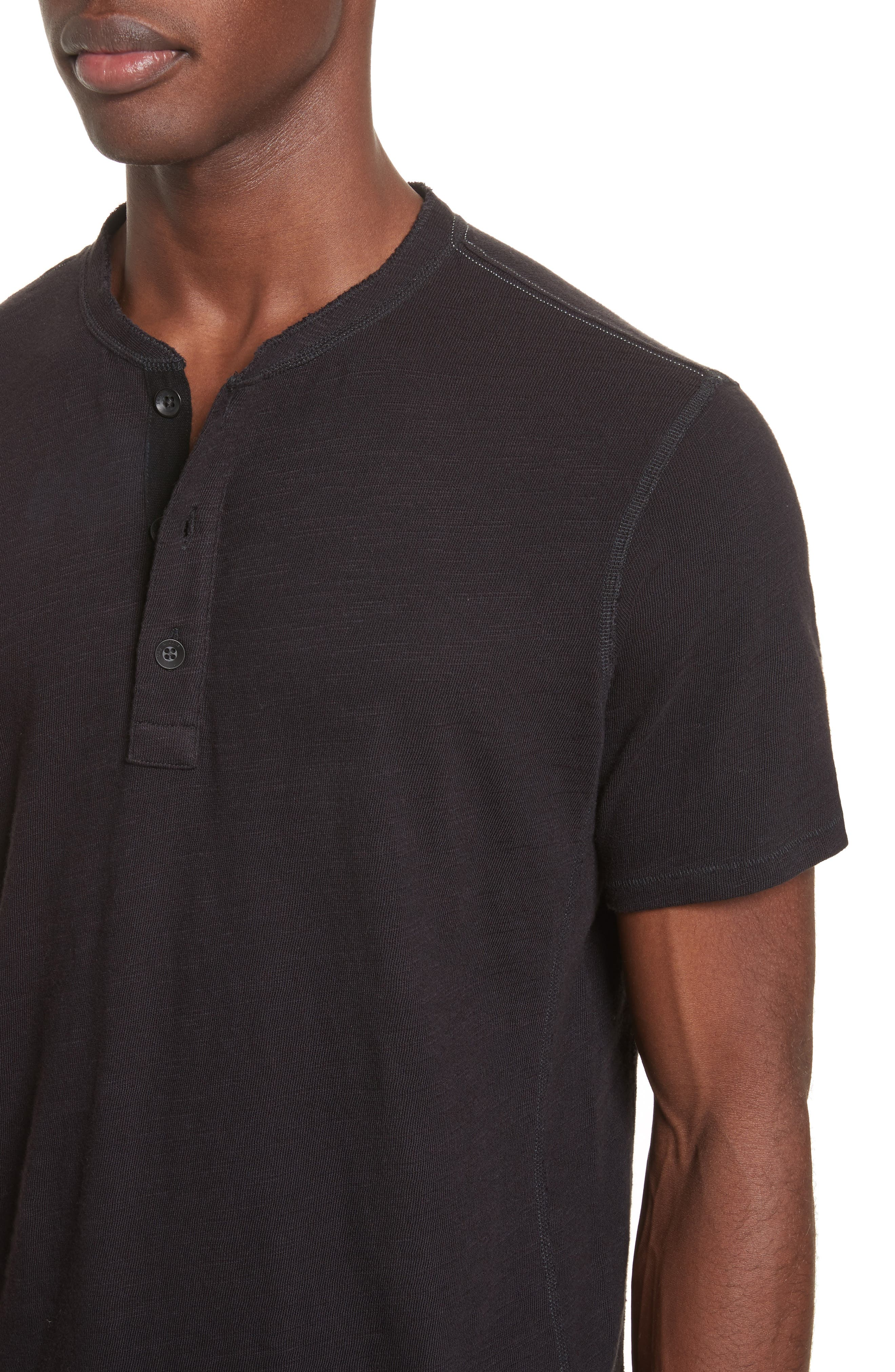 Standard Issue Henley T-Shirt,                             Alternate thumbnail 4, color,                             BLACK