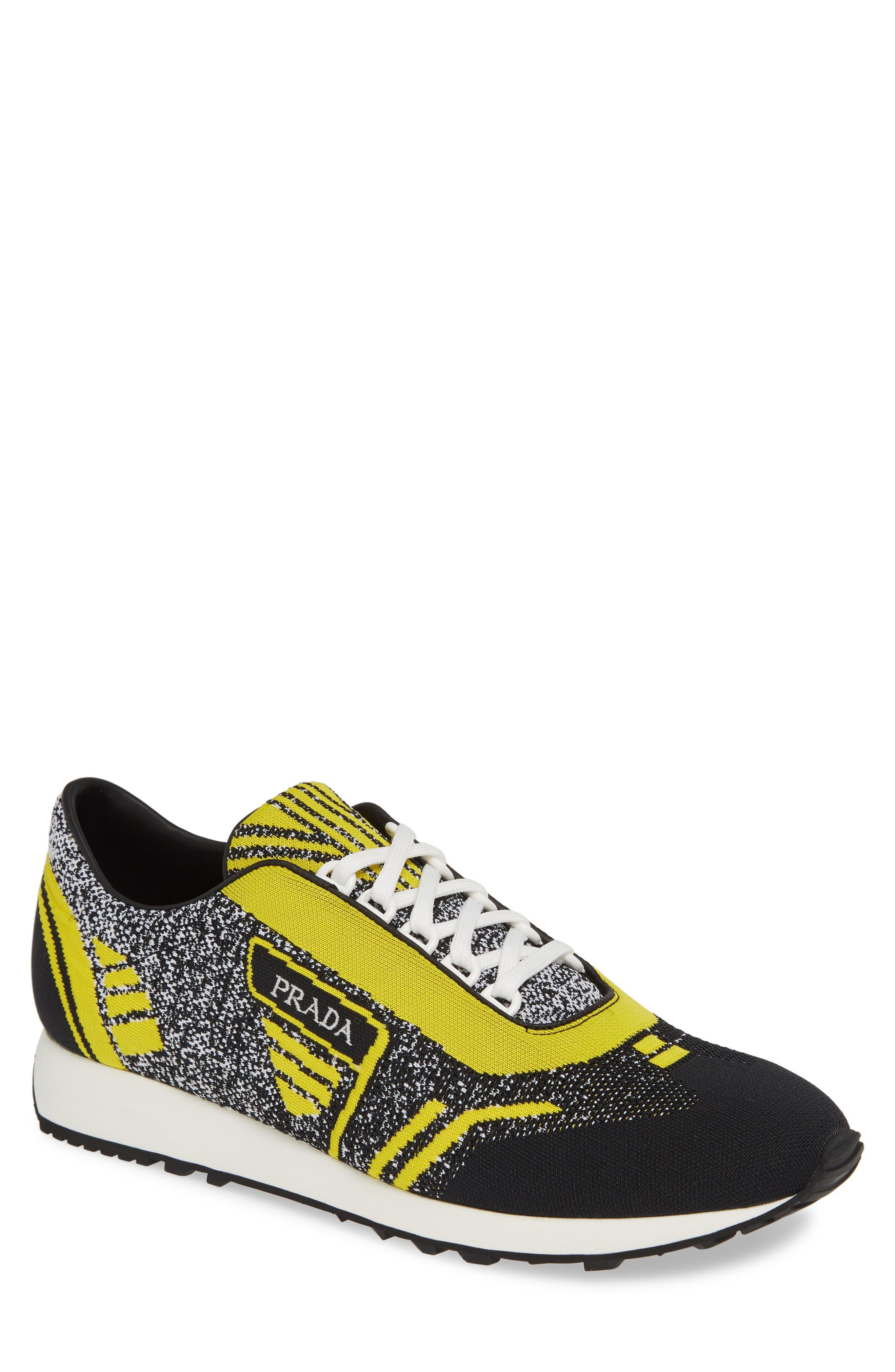 Retro Trainer Sneaker, Main, color, NERO GIALLO