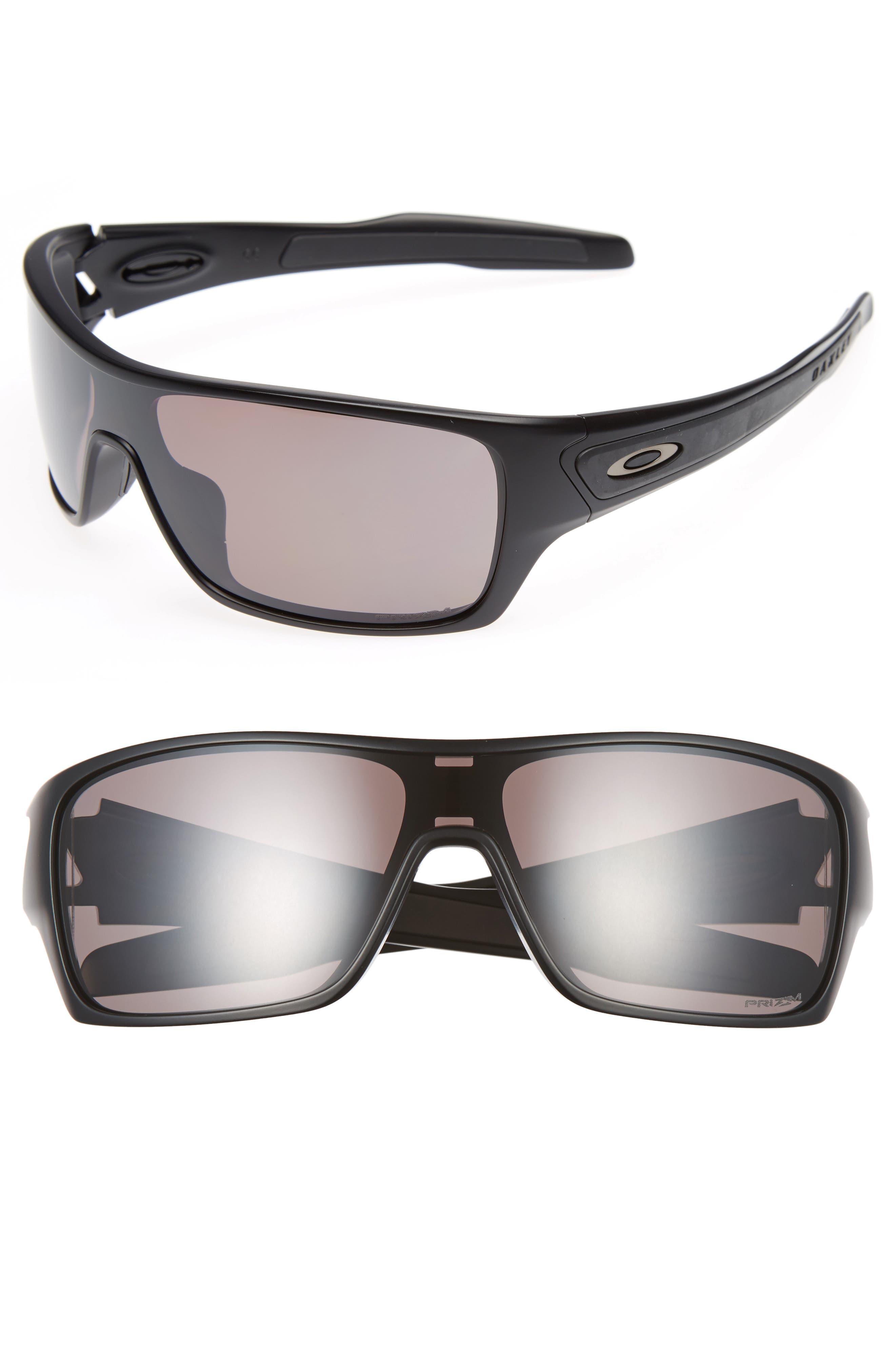 Turbine Rotor 68mm Polarized Sunglasses,                             Main thumbnail 1, color,                             BLACK