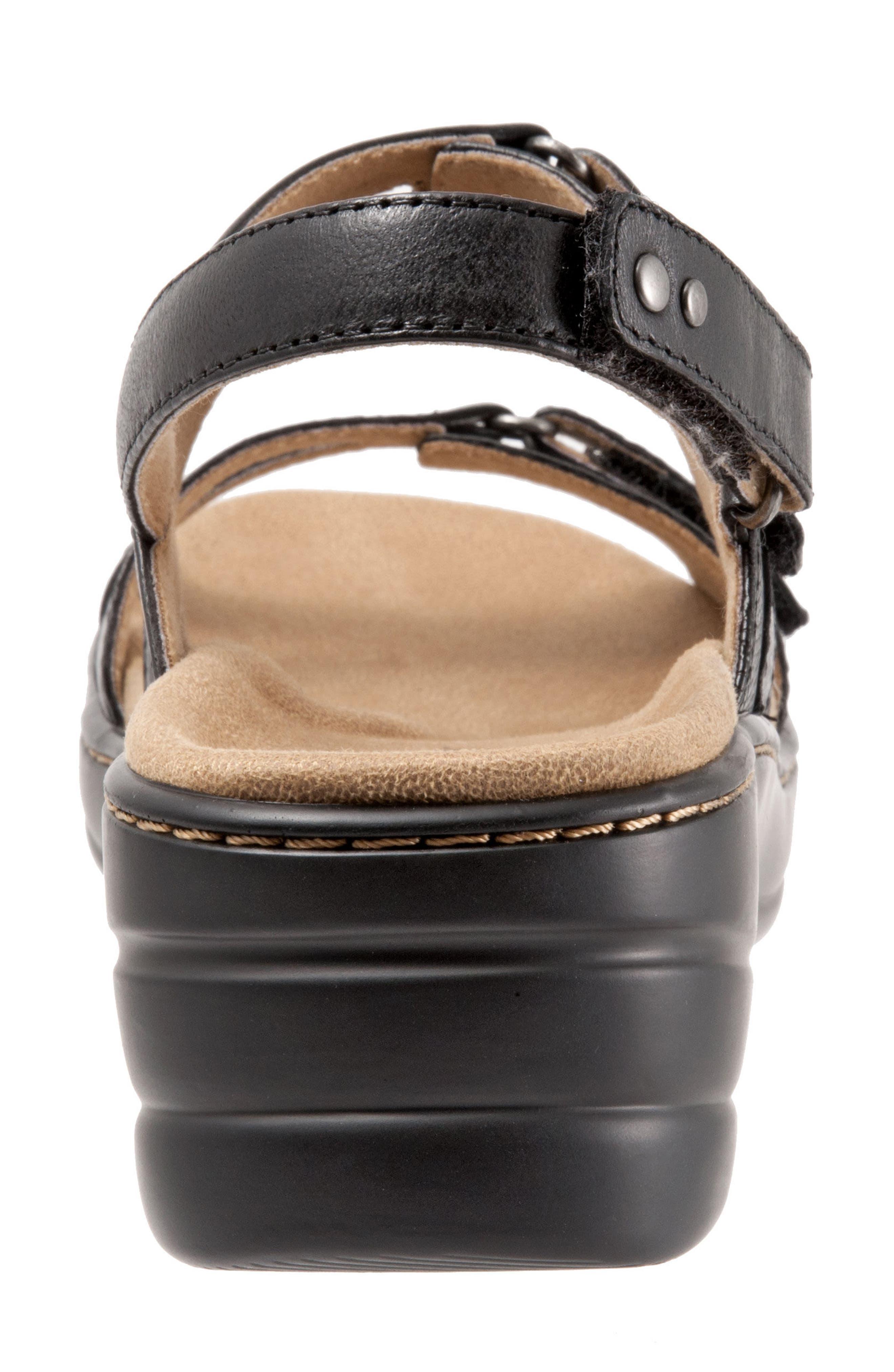 Newton Sandal,                             Alternate thumbnail 7, color,                             BLACK LEATHER