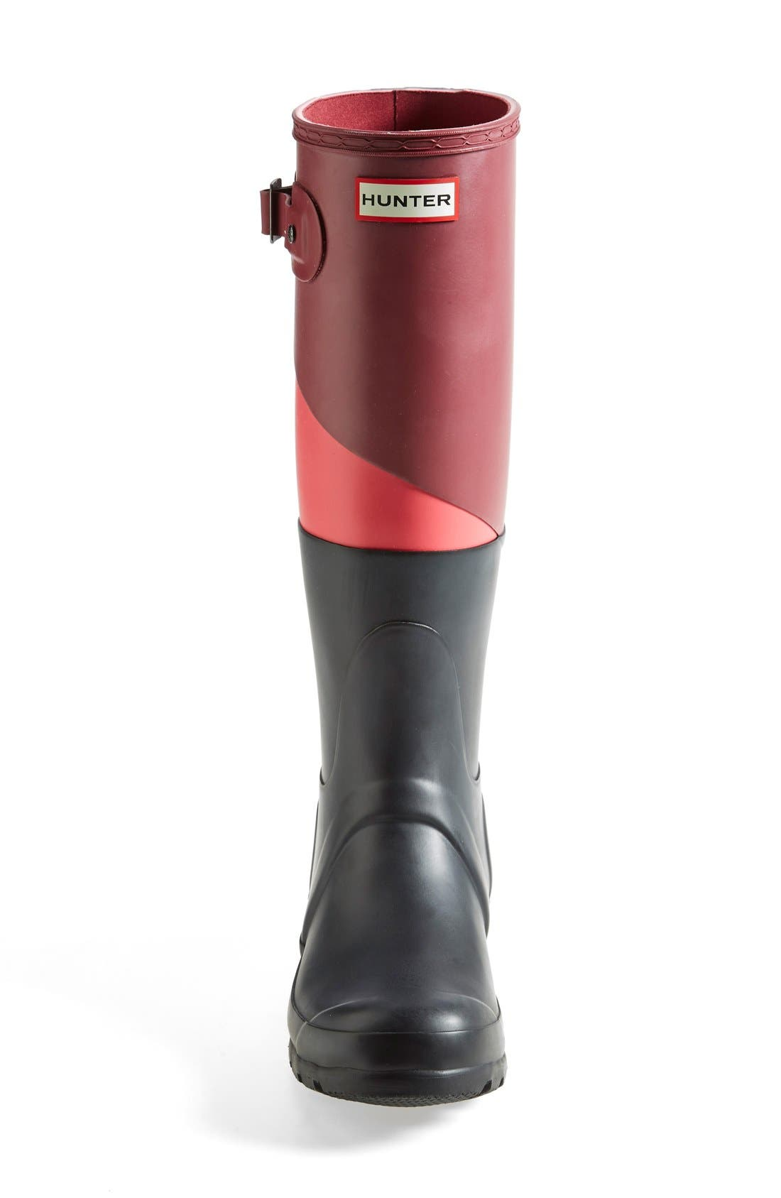 'Original - Asymmetric Colorblock' Waterproof Rain Boot,                             Alternate thumbnail 8, color,