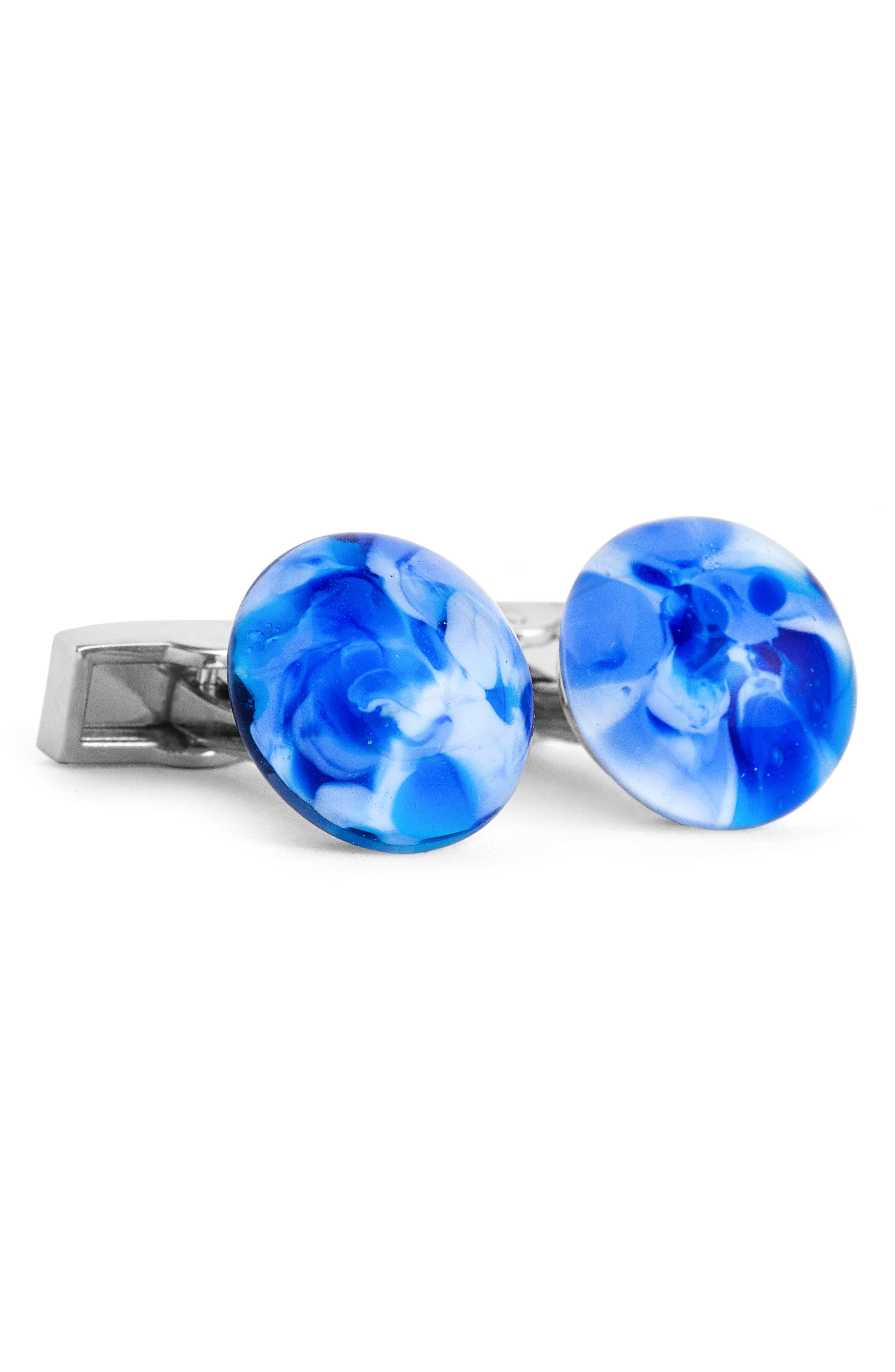 Cuff Links,                             Main thumbnail 1, color,                             BLUE