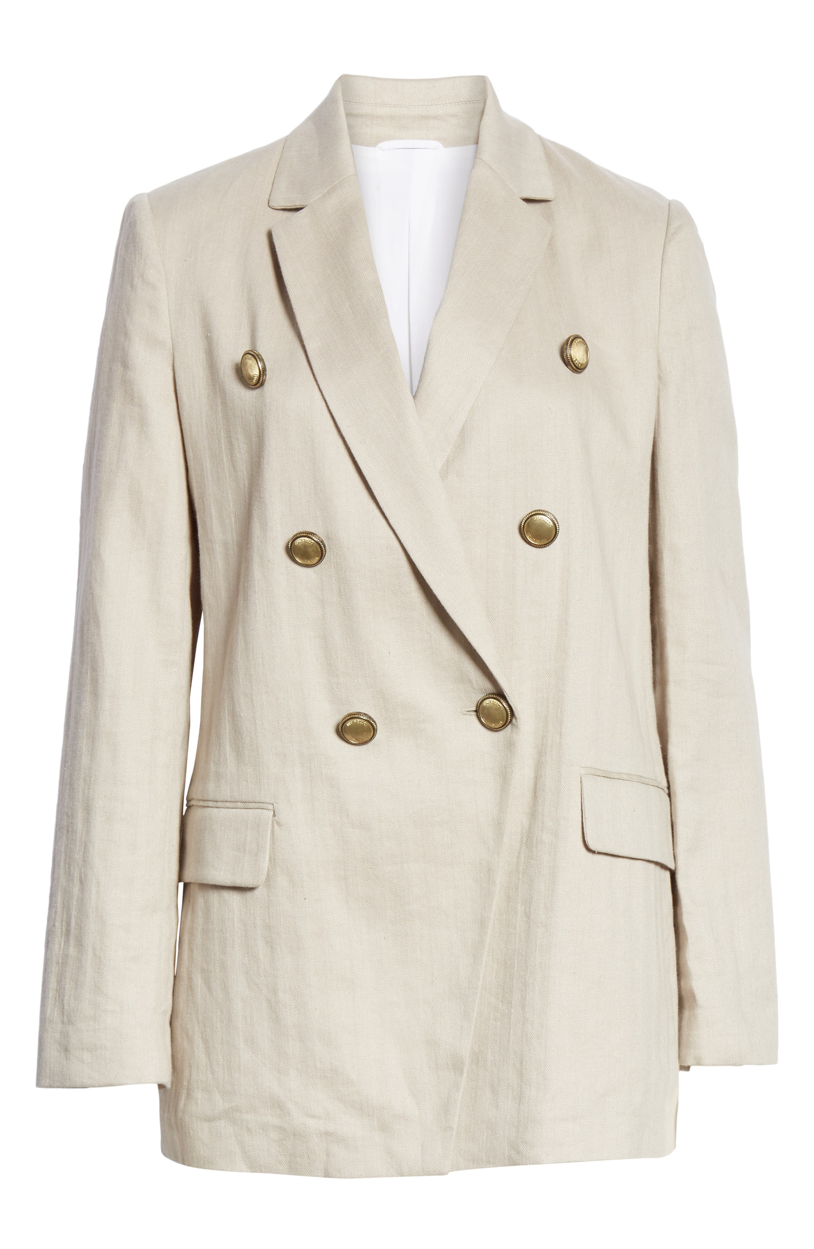 Chevron Weave Cotton & Linen Jacket,                             Alternate thumbnail 6, color,                             DESERT
