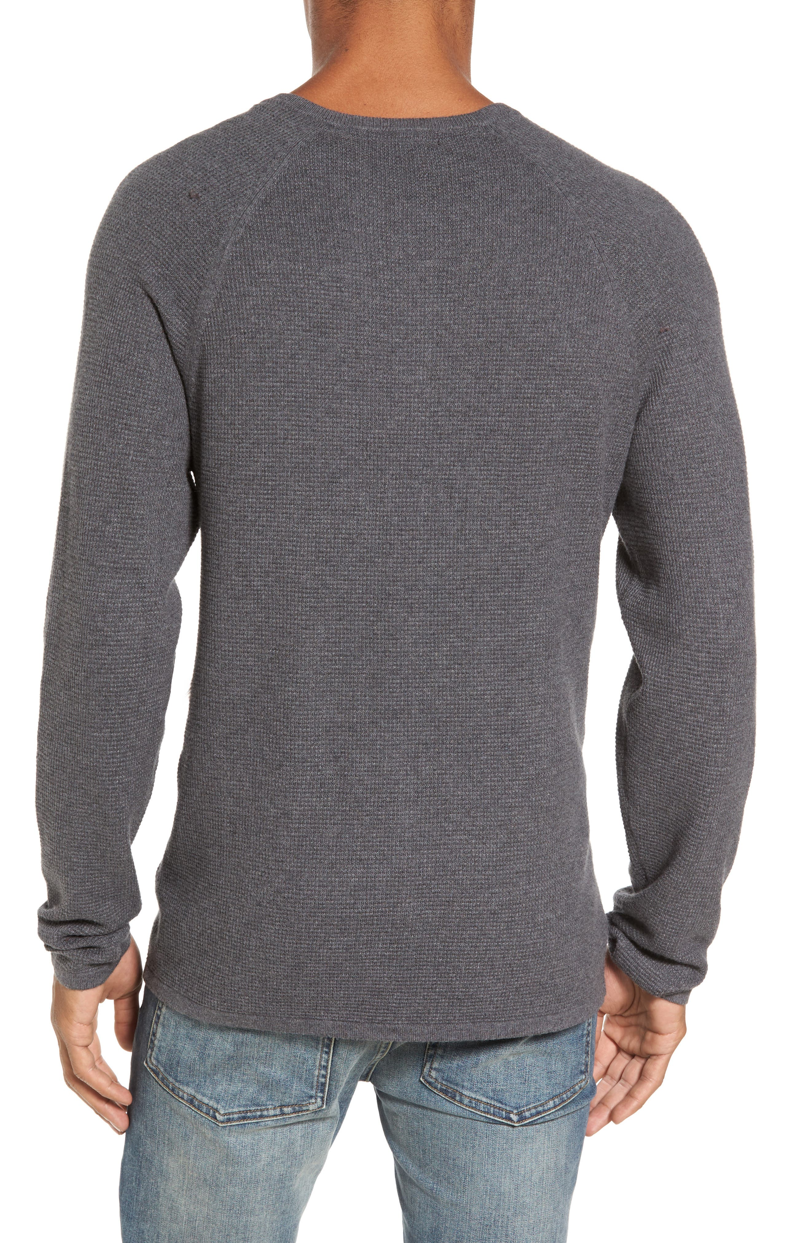 Waffle Knit Henley Sweater,                             Alternate thumbnail 2, color,                             033
