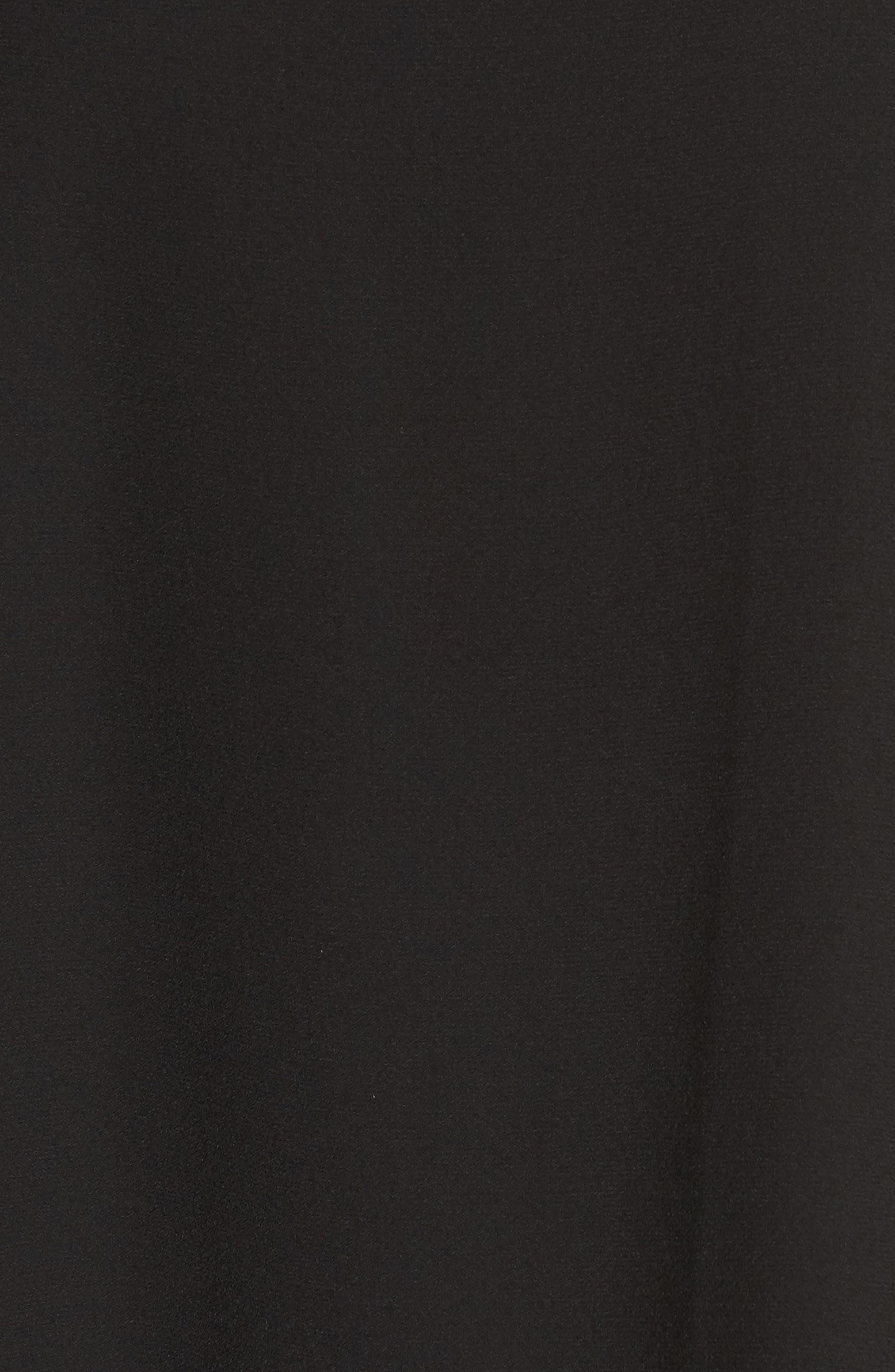 Cold Shoulder Swing Dress,                             Alternate thumbnail 6, color,                             001