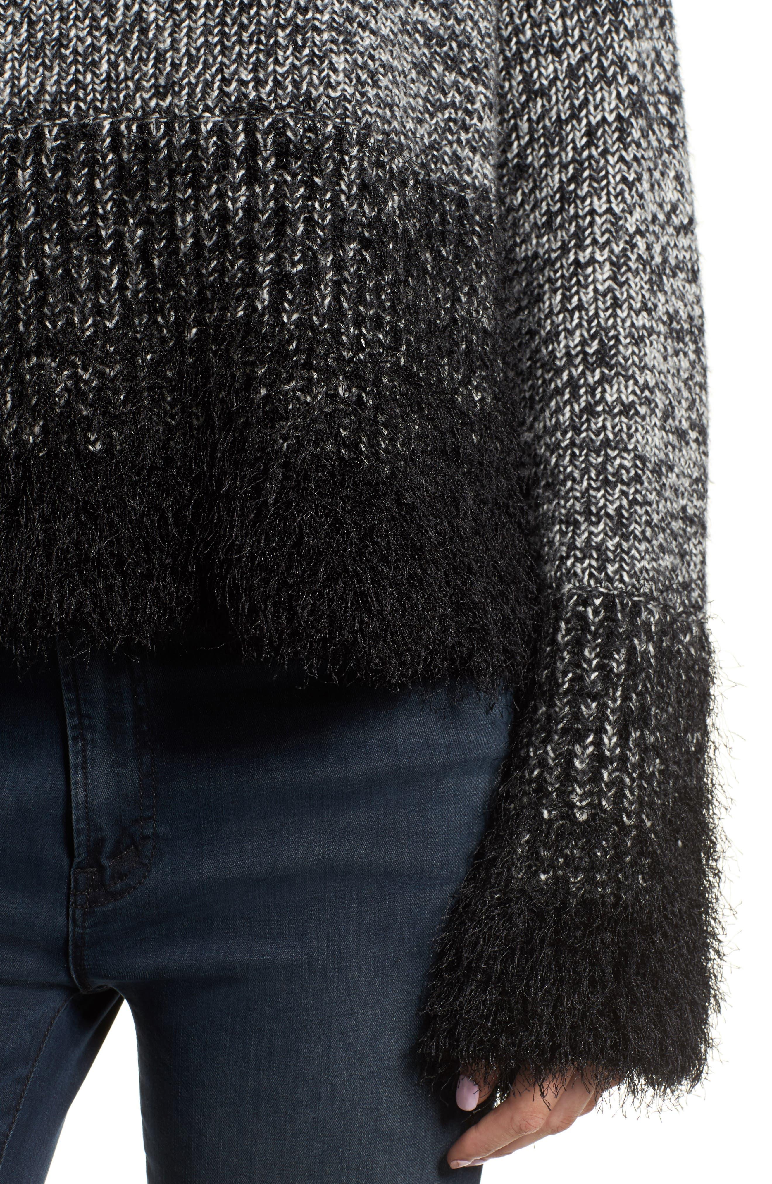 Eyelash Fringe Sweater,                             Alternate thumbnail 4, color,                             006