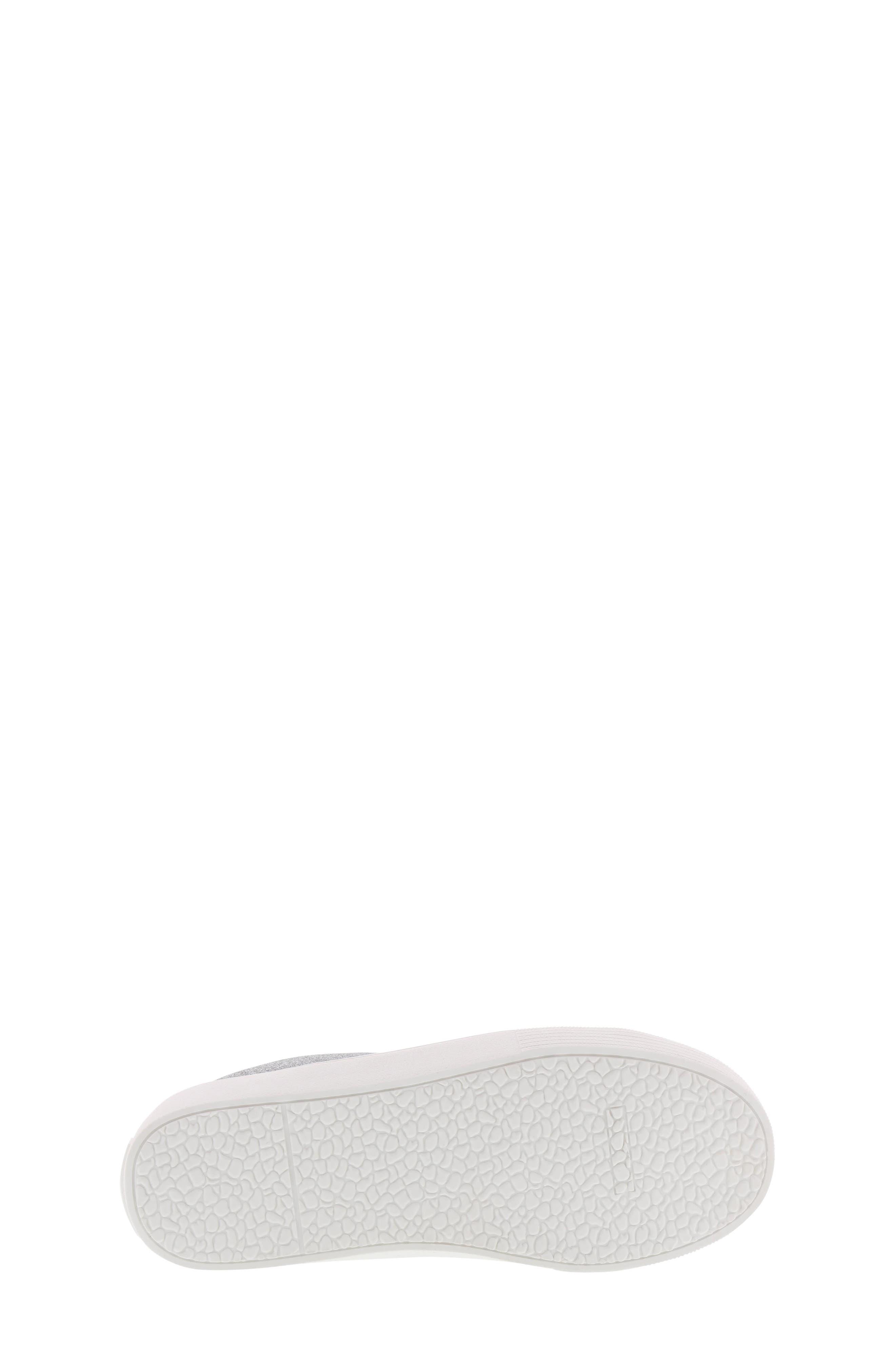 Bella Emma Slip-On Sneaker,                             Alternate thumbnail 6, color,                             SILVER GLITTER