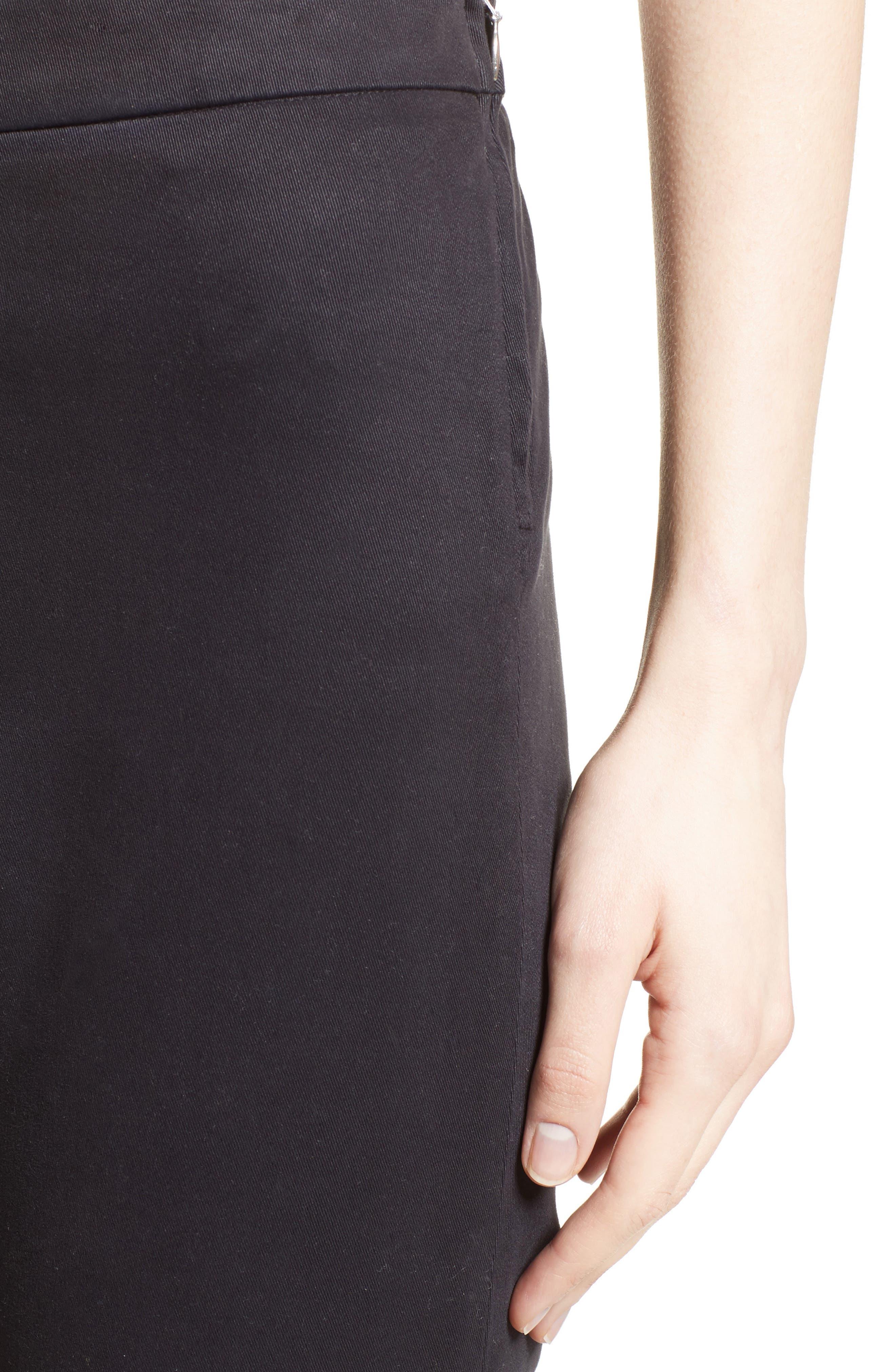 Brushed Cotton Ankle Pants,                             Alternate thumbnail 4, color,                             021