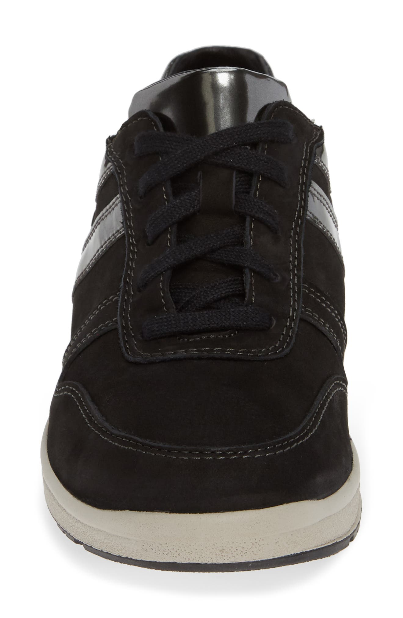 MEPHISTO,                             Rebeca Sneaker,                             Alternate thumbnail 4, color,                             BLACK FABRIC