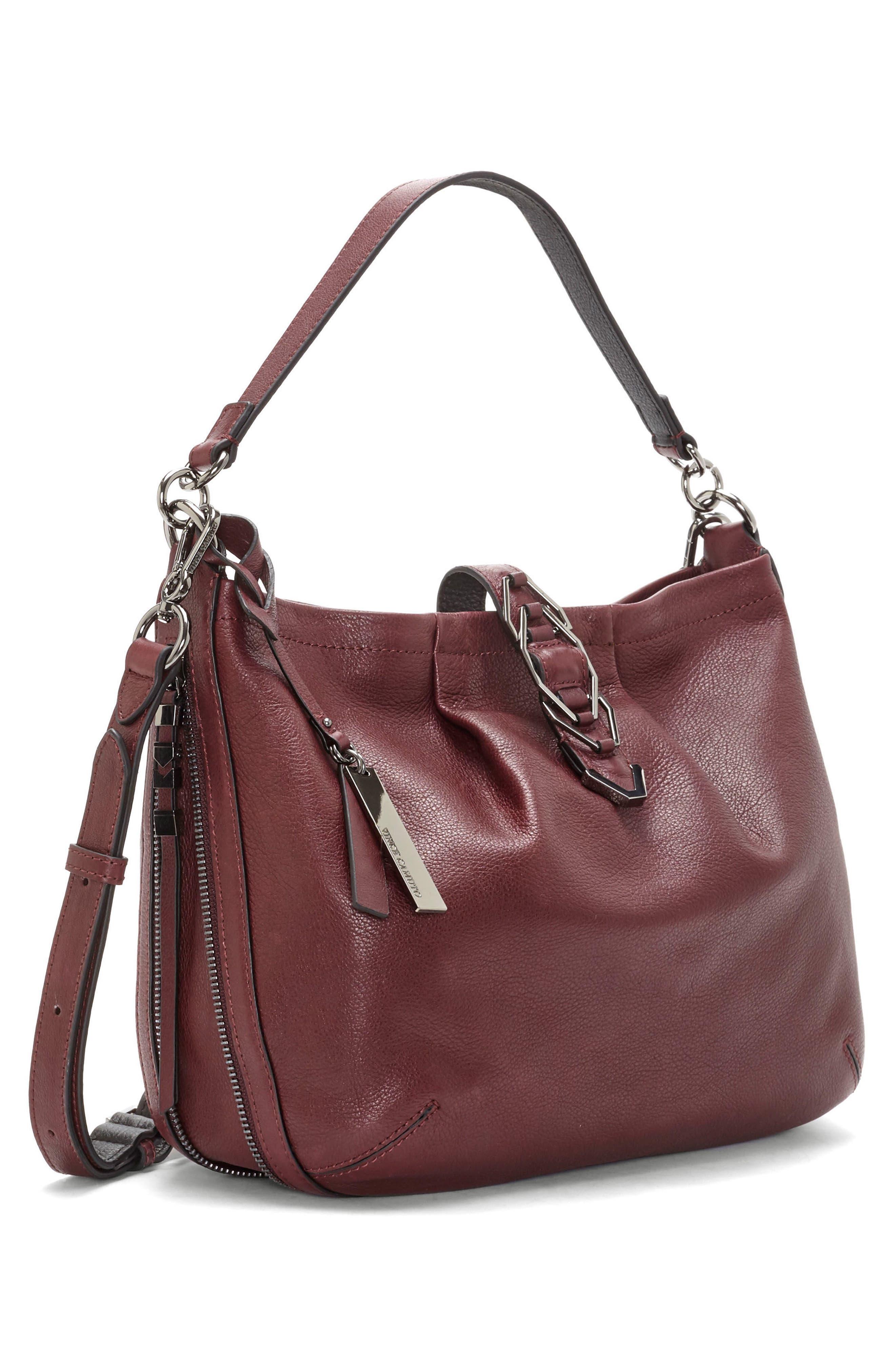 Luk Pleated Leather Shoulder Bag,                             Alternate thumbnail 8, color,