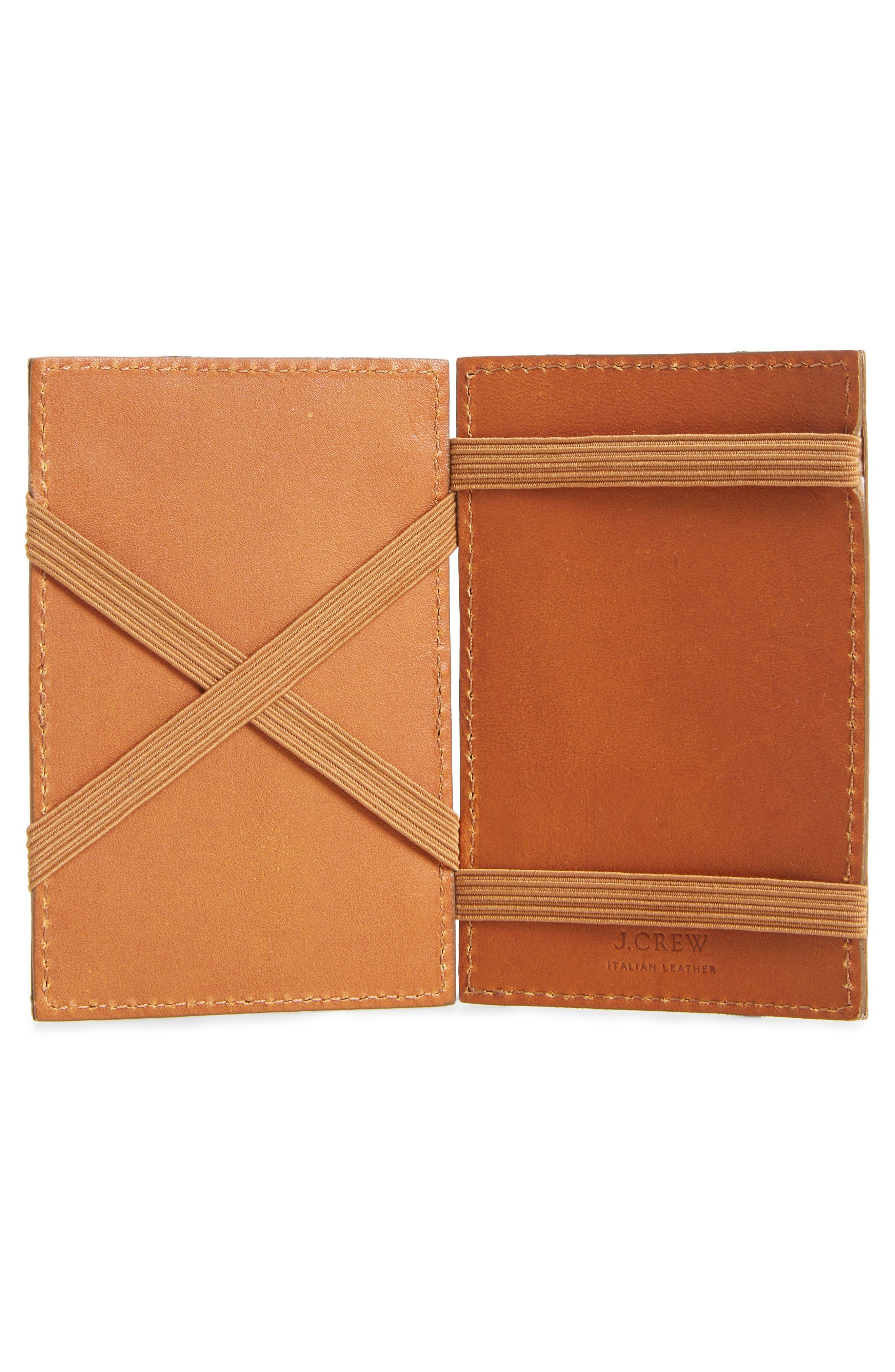 J.CREW,                             Magic Leather Wallet,                             Alternate thumbnail 2, color,                             200