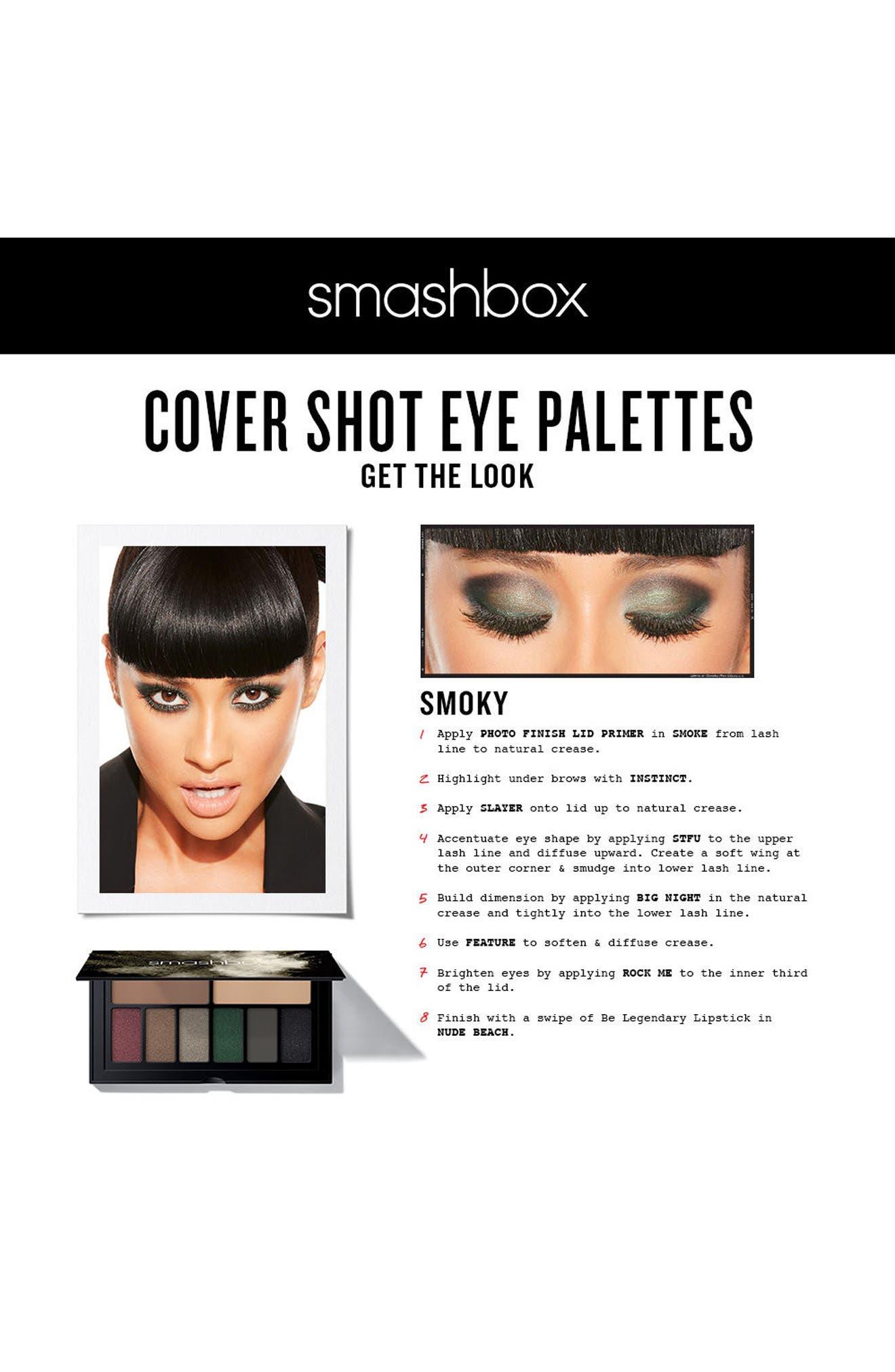 Cover Shot Smoky Eyeshadow Palette,                             Alternate thumbnail 4, color,                             SMOKY