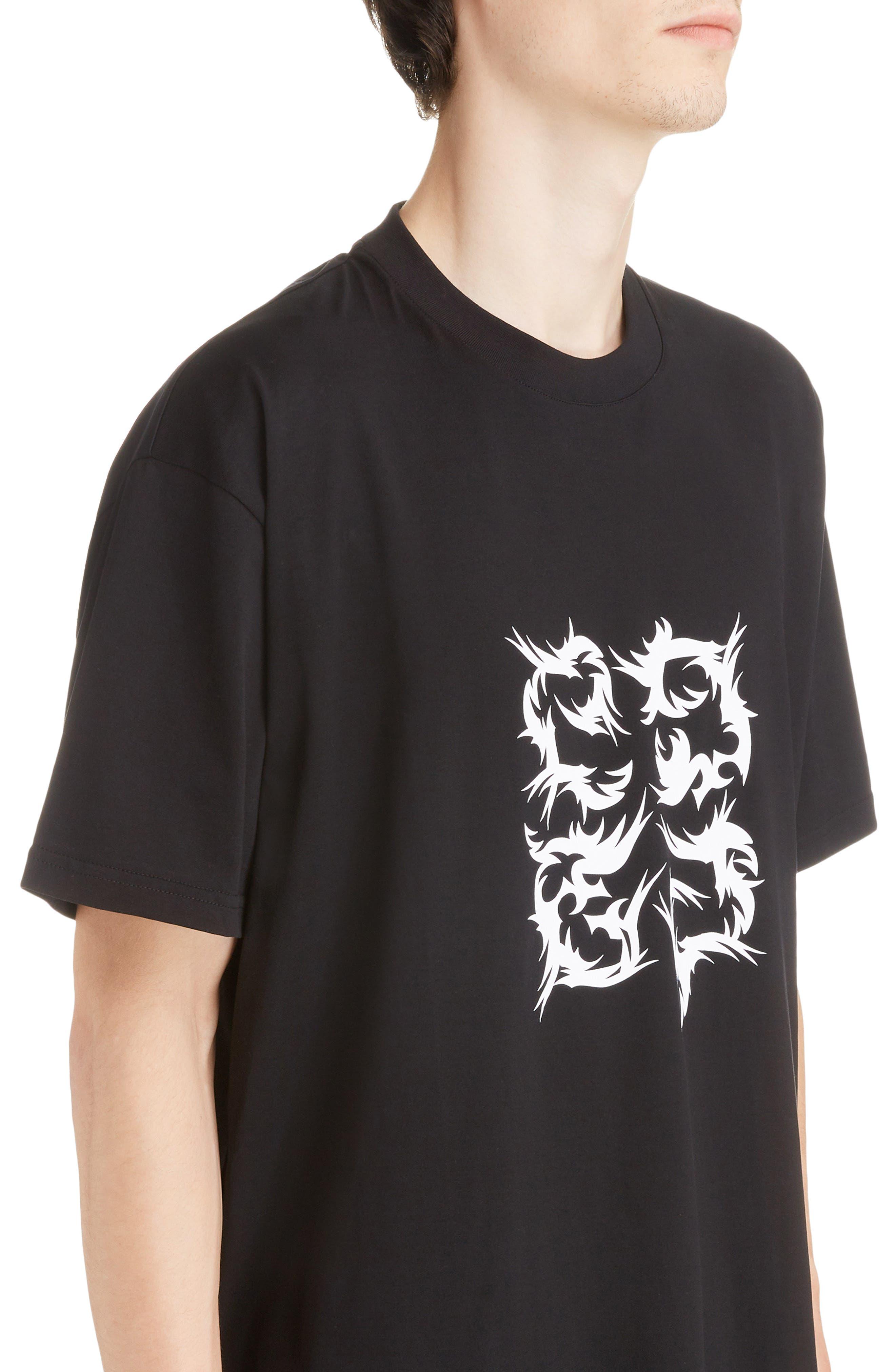 Abstract 4G Logo T-Shirt,                             Alternate thumbnail 4, color,                             BLACK