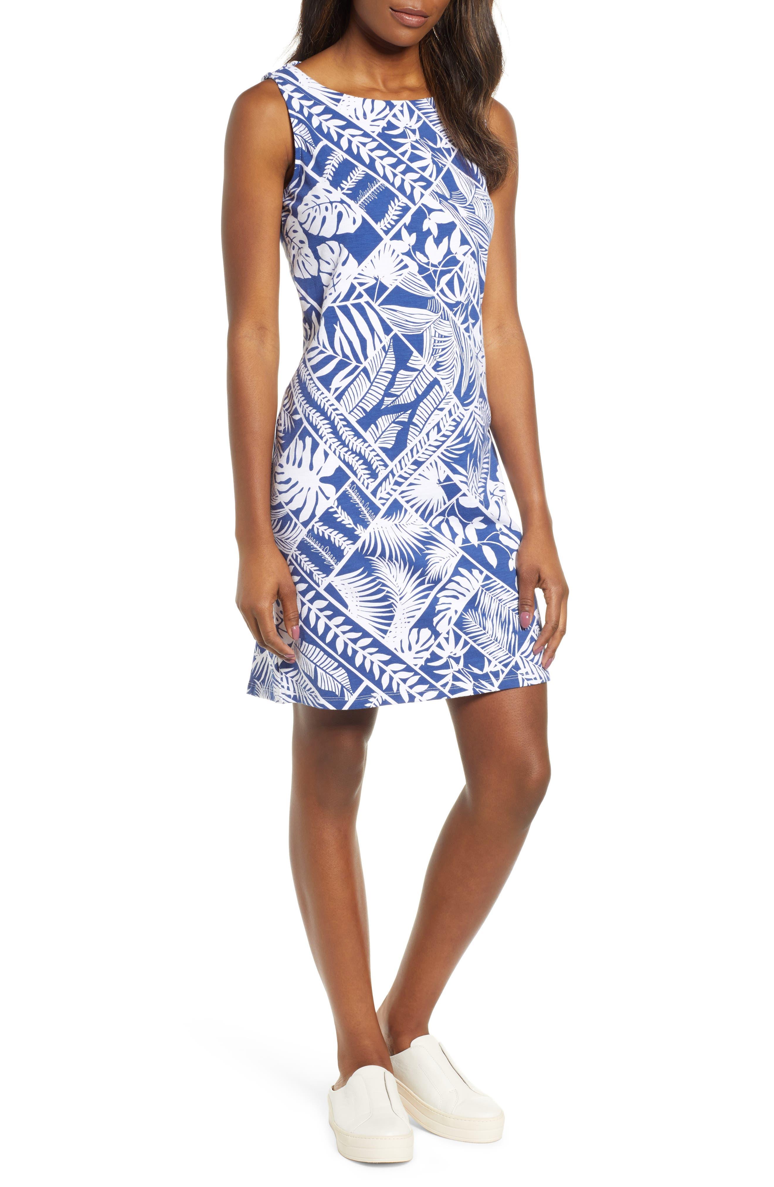 Tommy Bahama Frond Of A Frond Sheath Dress, Blue