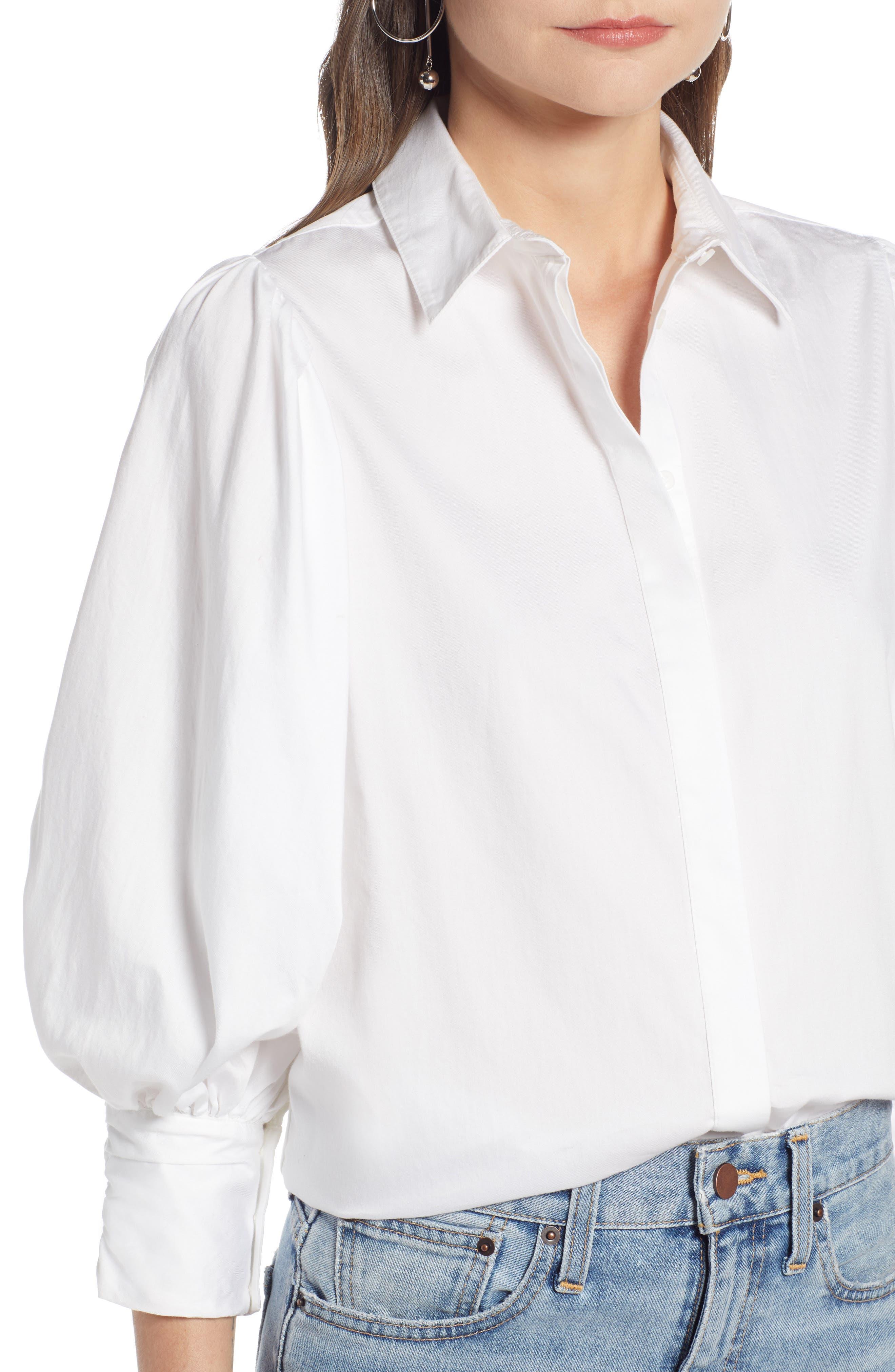 SOMETHING NAVY,                             Full Sleeve Button Through Shirt,                             Alternate thumbnail 4, color,                             100