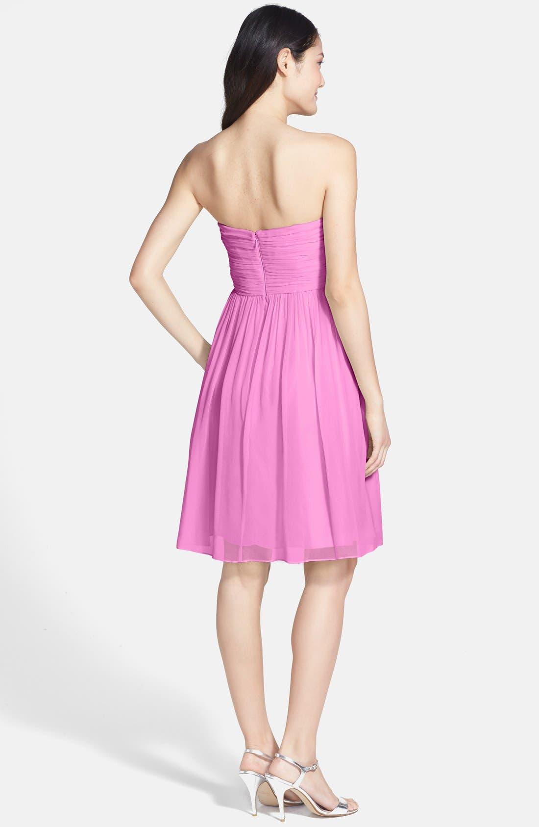 'Morgan' Strapless Silk Chiffon Dress,                             Alternate thumbnail 117, color,