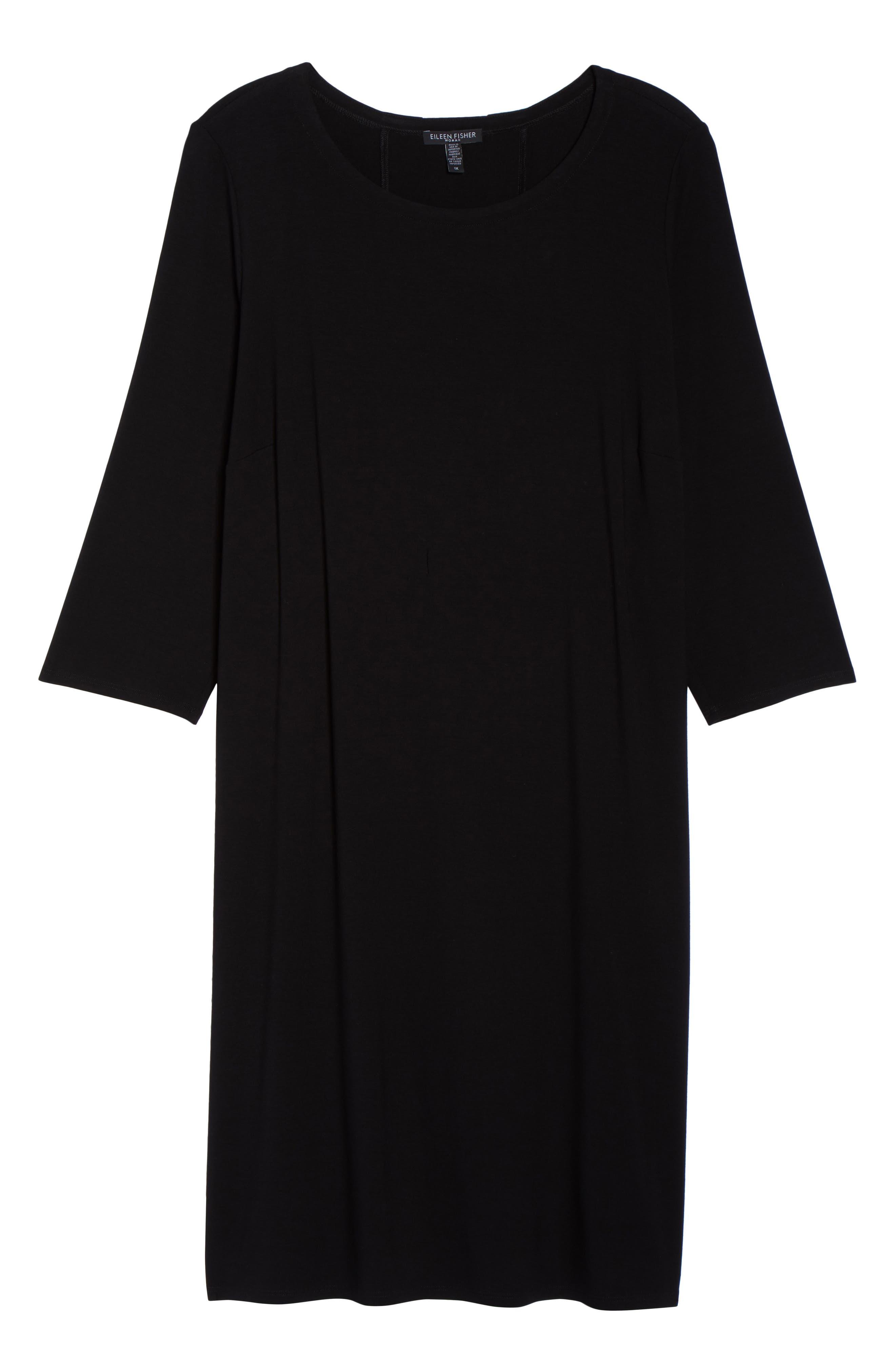 Jewel Neck Tie Back Dress,                             Alternate thumbnail 26, color,