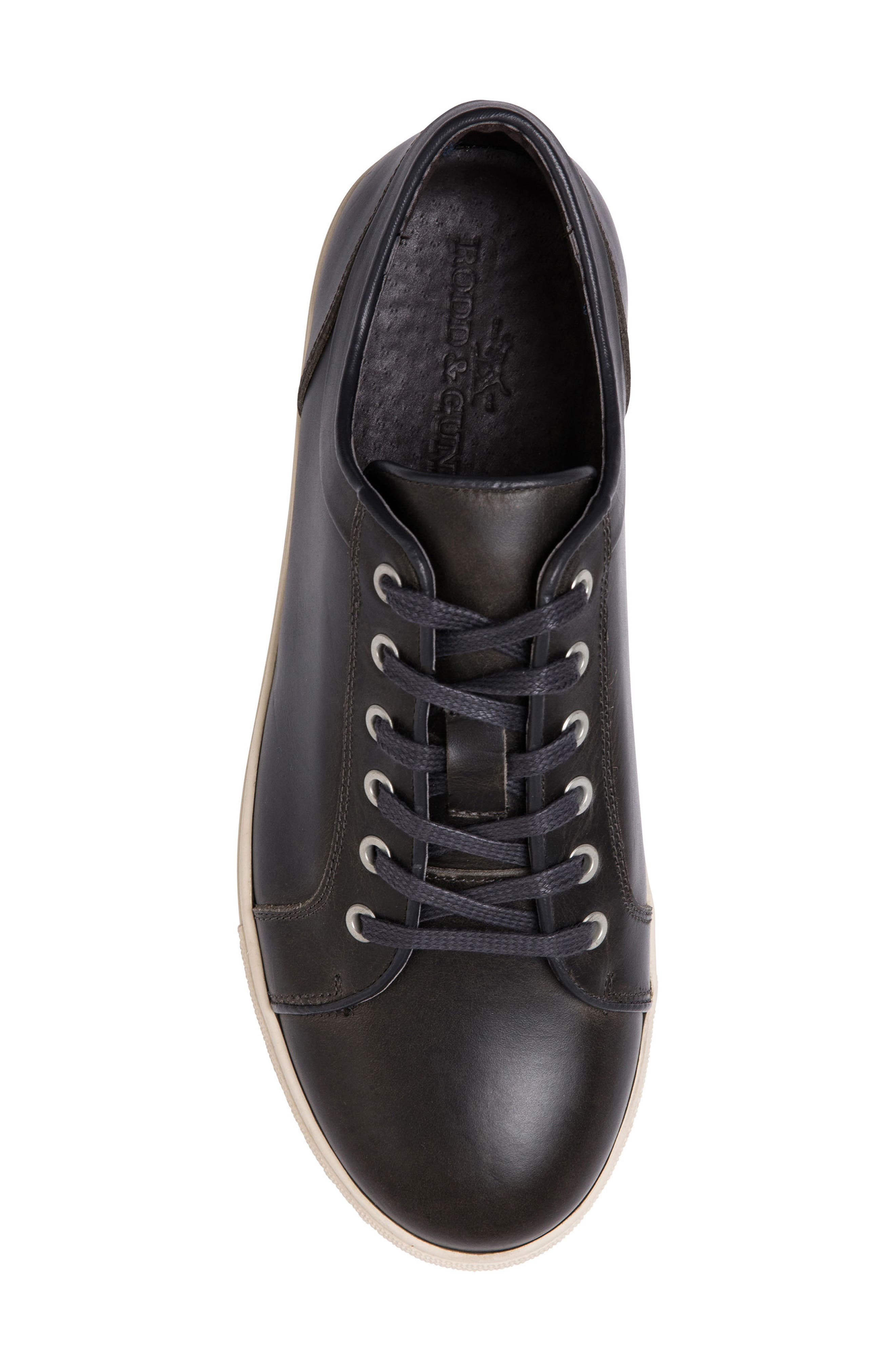 Aria Sneaker,                             Alternate thumbnail 5, color,                             COAL LEATHER