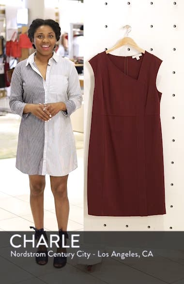 Asymmetrical Neck Sheath Dress, sales video thumbnail