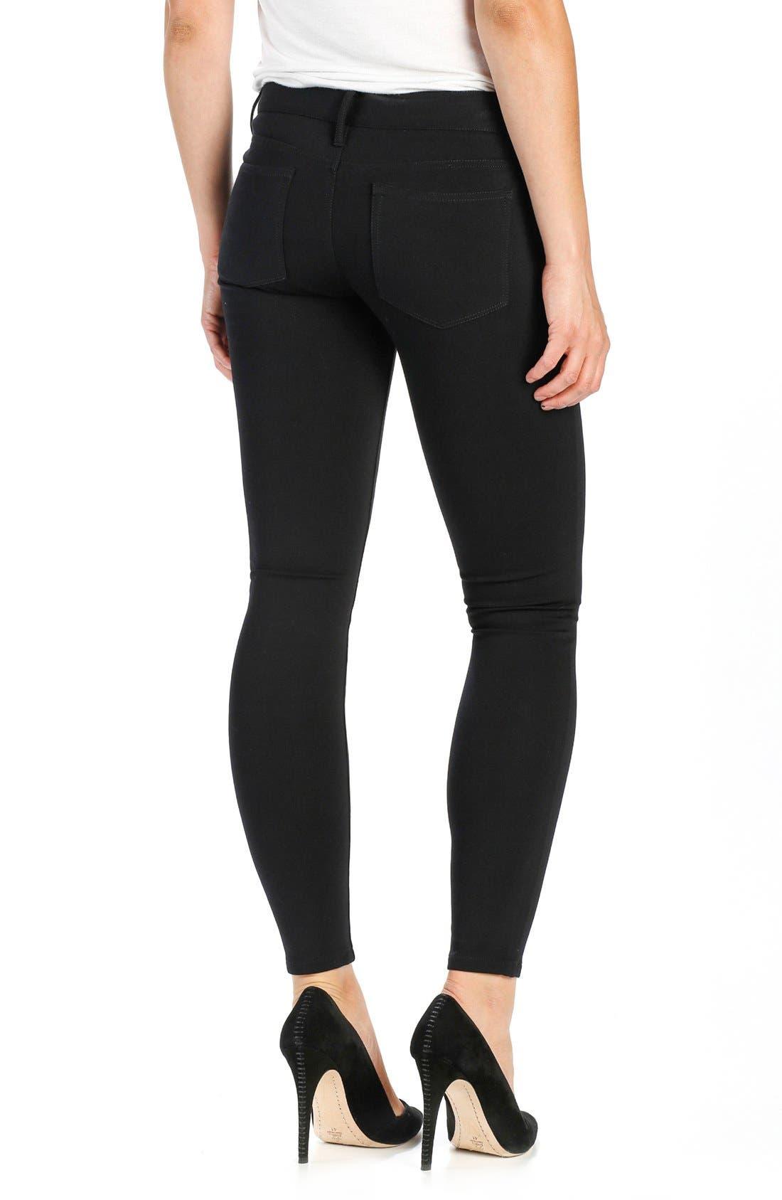 'Verdugo' Ponte Ankle Pants,                             Alternate thumbnail 2, color,                             BLACK