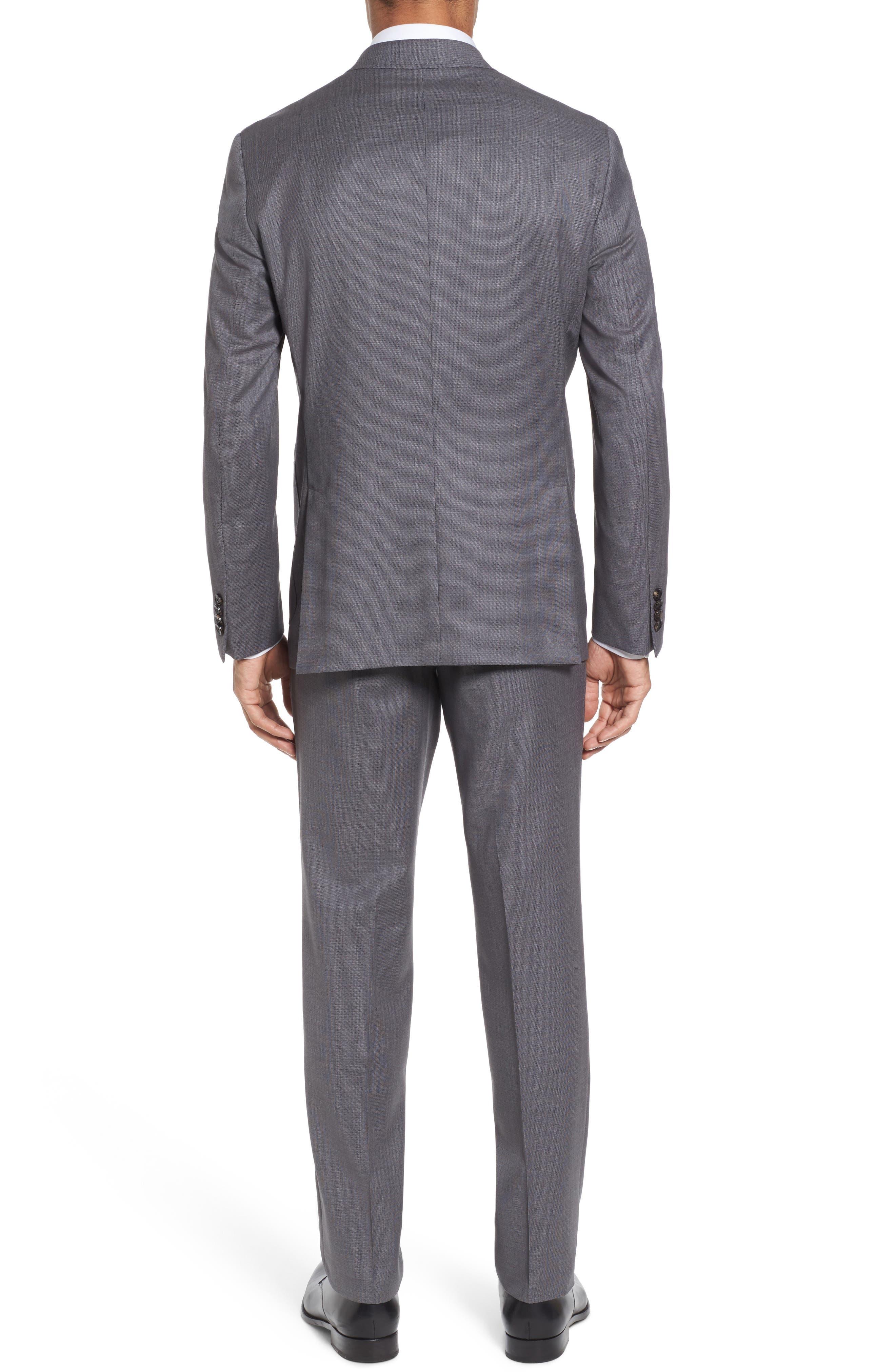 Kyle Trim Fit Solid Wool Suit,                             Alternate thumbnail 2, color,                             020