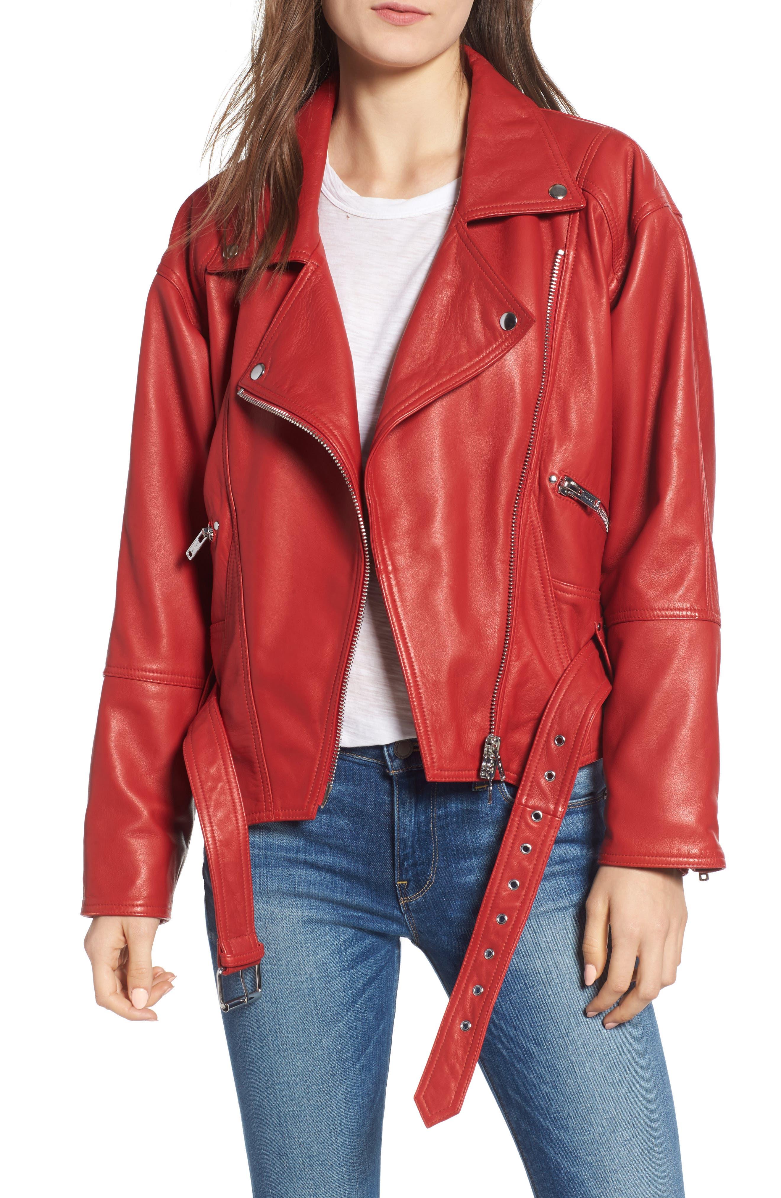 Leather Jacket,                             Main thumbnail 1, color,                             RIOT