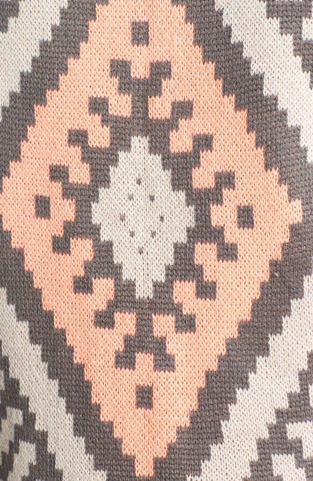 BLU PEPPER,                             Geo Knit Back Jacket,                             Alternate thumbnail 3, color,                             020