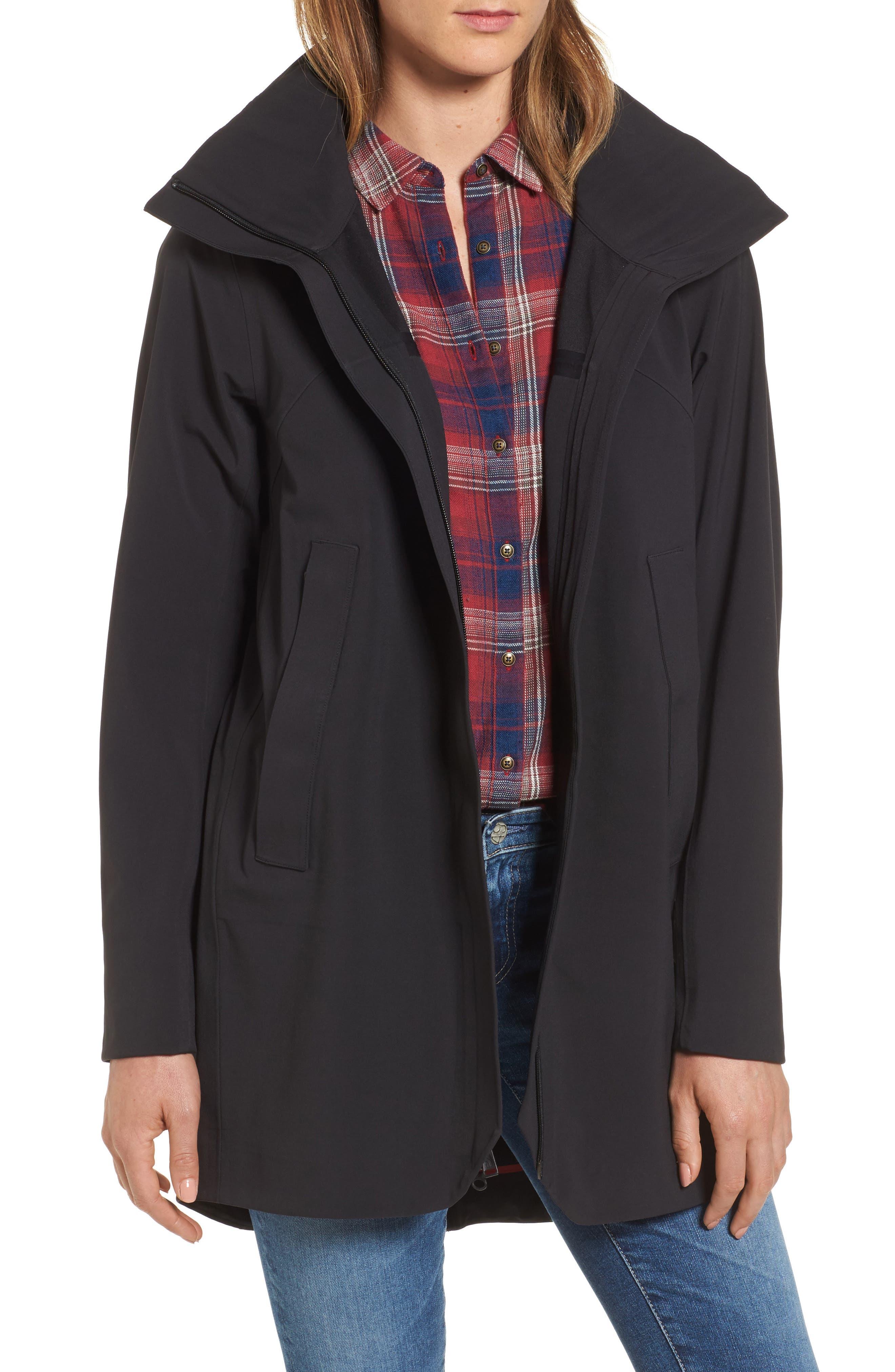 Apex Flex Gore-Tex<sup>®</sup> Trench Coat,                         Main,                         color, BLACK