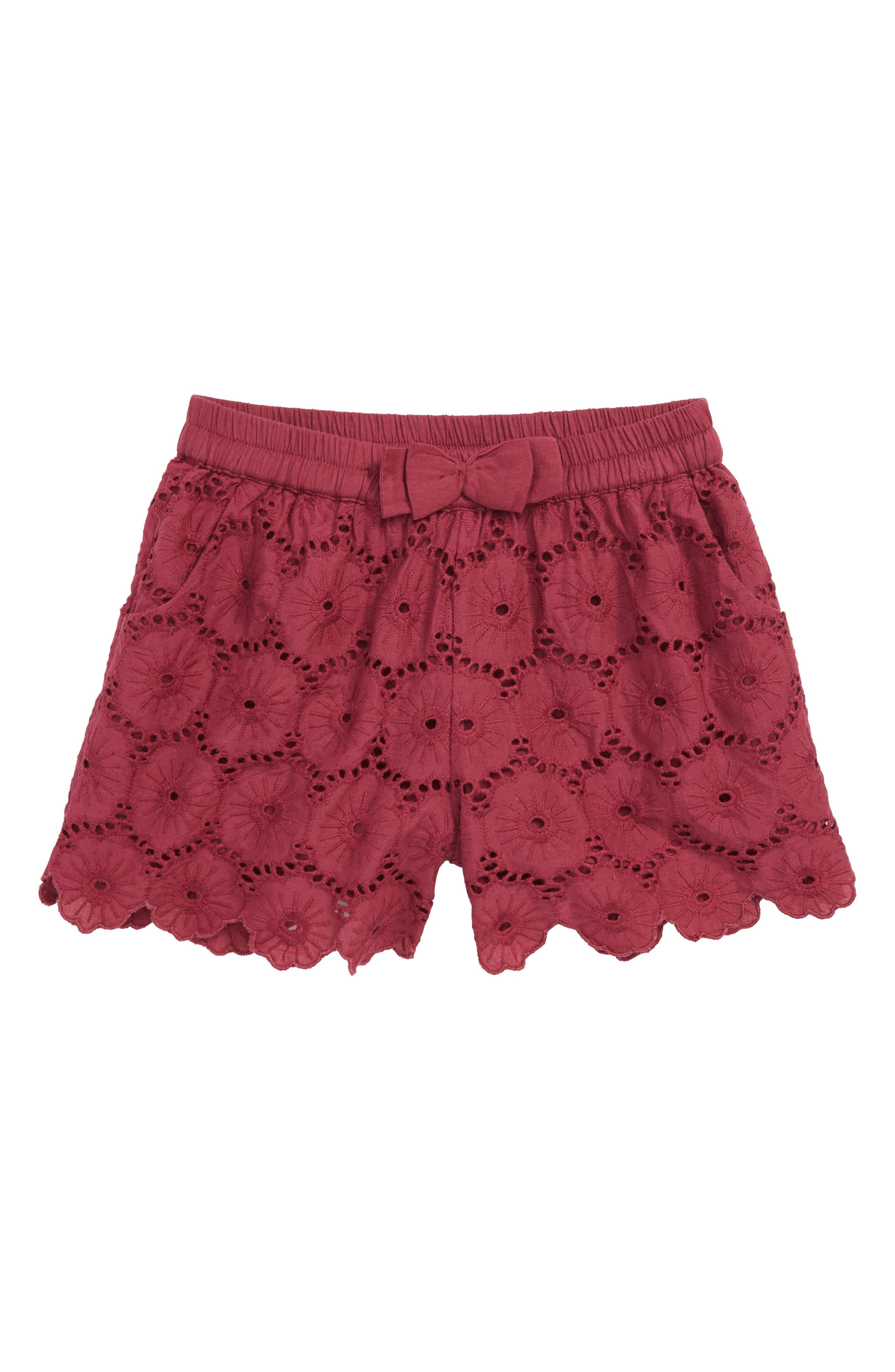 Christy Eyelet Shorts,                         Main,                         color, 930