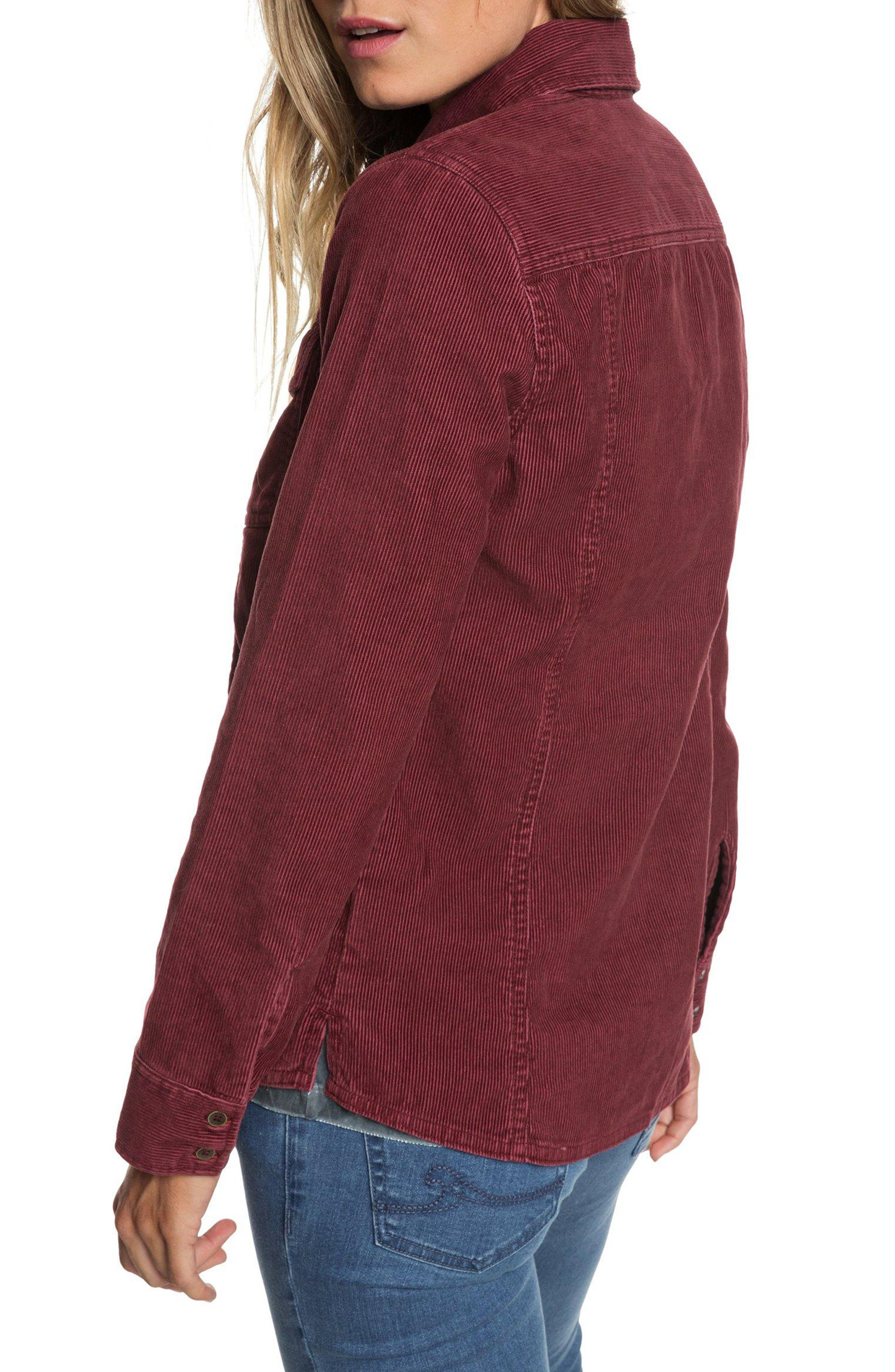 The Edge Of Wildness Corduroy Shirt,                             Alternate thumbnail 2, color,                             OXBLOOD RED
