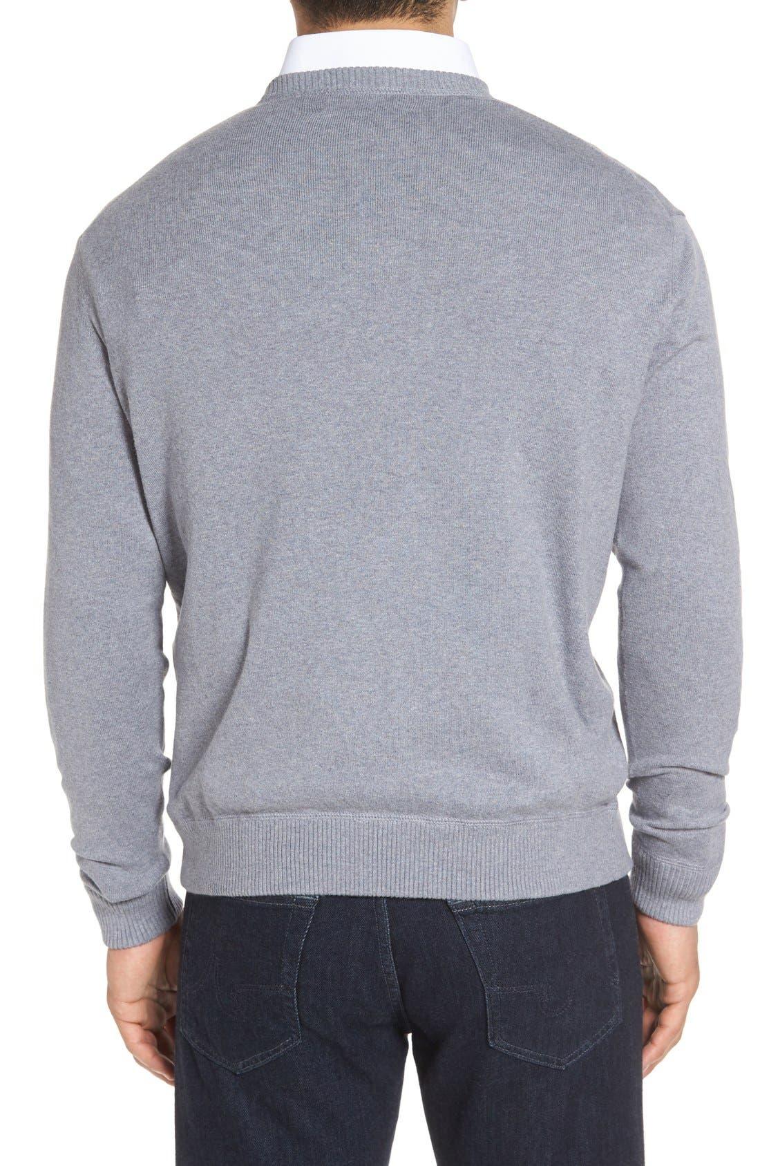'Jersey Sport' Cotton Blend Crewneck Sweater,                             Alternate thumbnail 10, color,