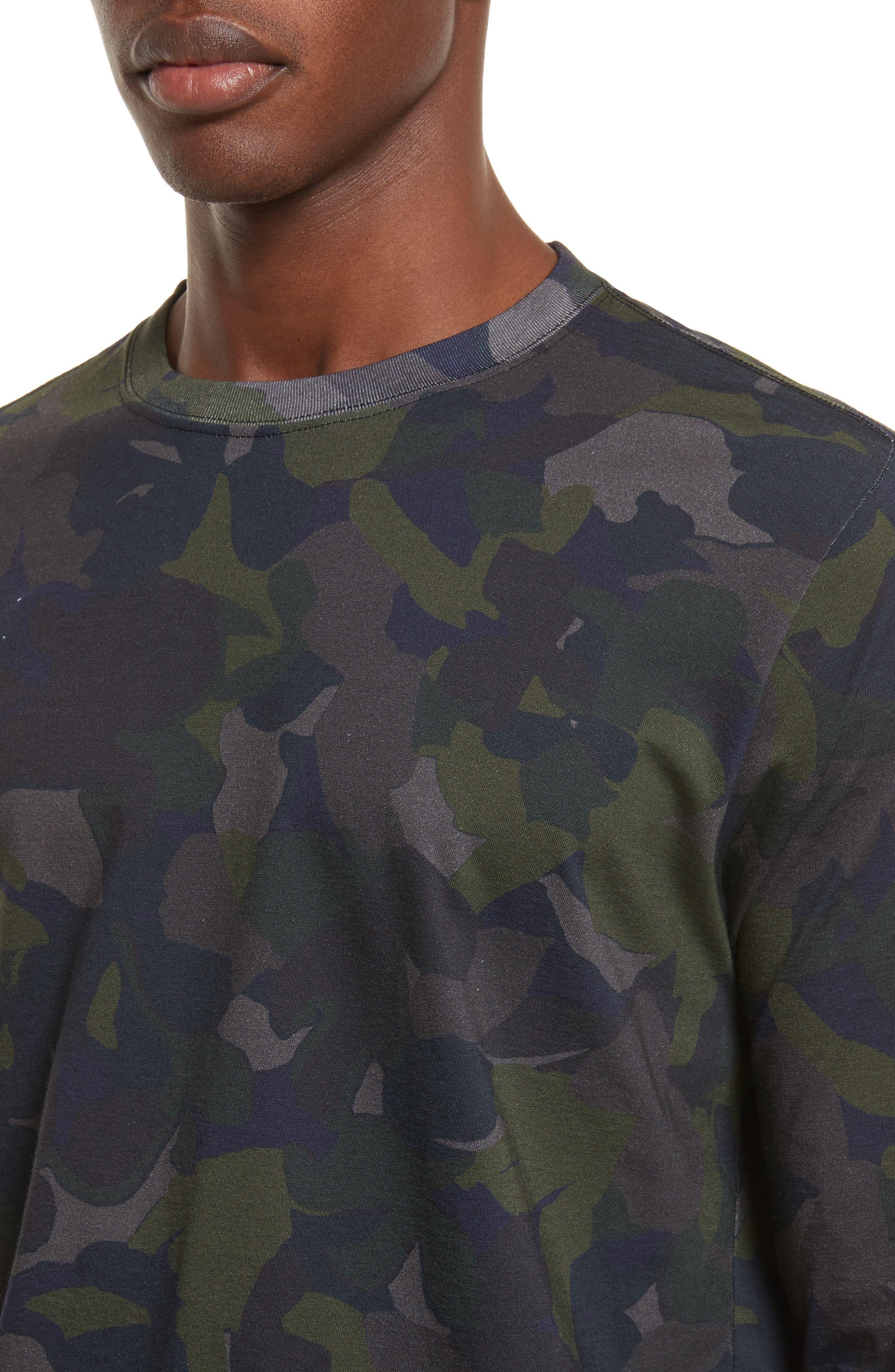 Camo Long Sleeve T-Shirt,                             Alternate thumbnail 4, color,                             410