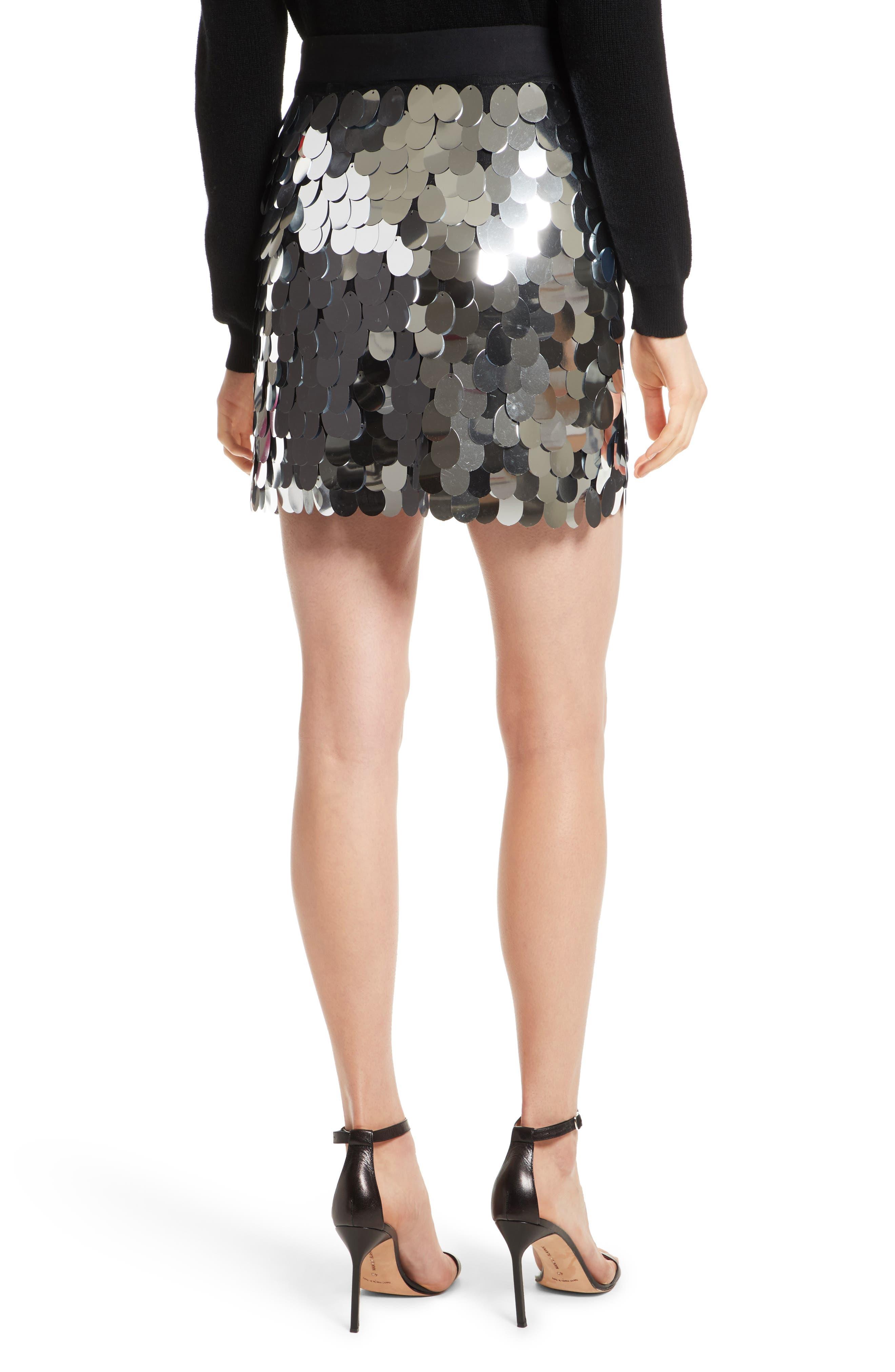 Paillette Sequin Miniskirt,                             Alternate thumbnail 2, color,