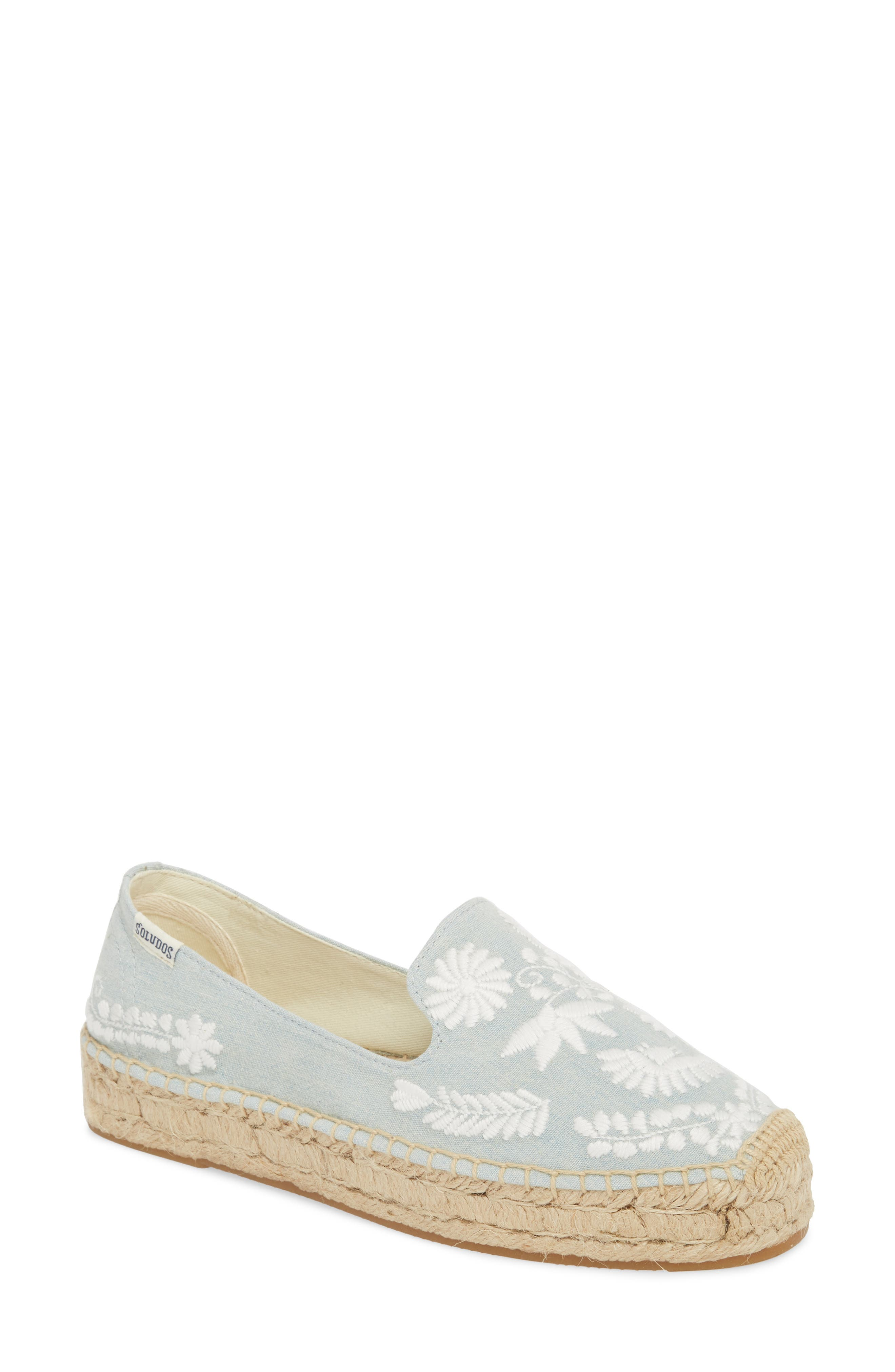 Ibiza Embroidered Loafer Espadrille,                         Main,                         color, CHAMBRAY