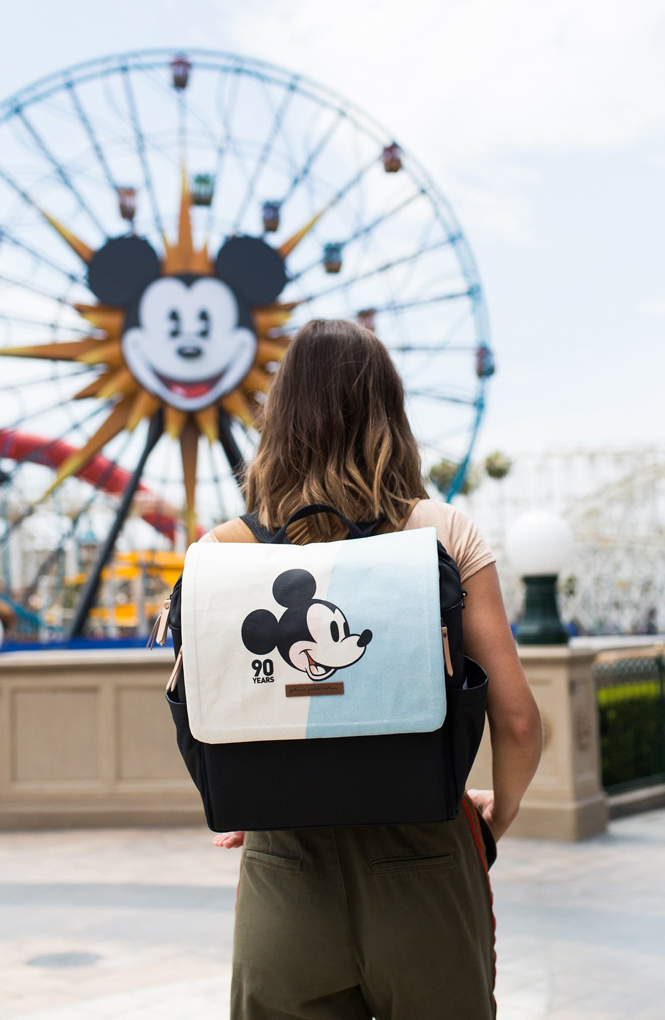 PETUNIA PICKLE BOTTOM,                             Mickey's 90th Disney Collaboration Boxy Backpack,                             Alternate thumbnail 3, color,                             BLUE
