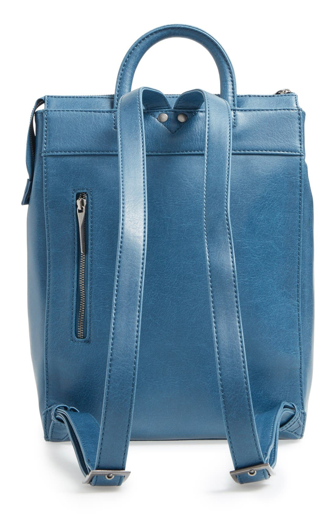 'Katherine' Faux Leather Backpack,                             Alternate thumbnail 18, color,
