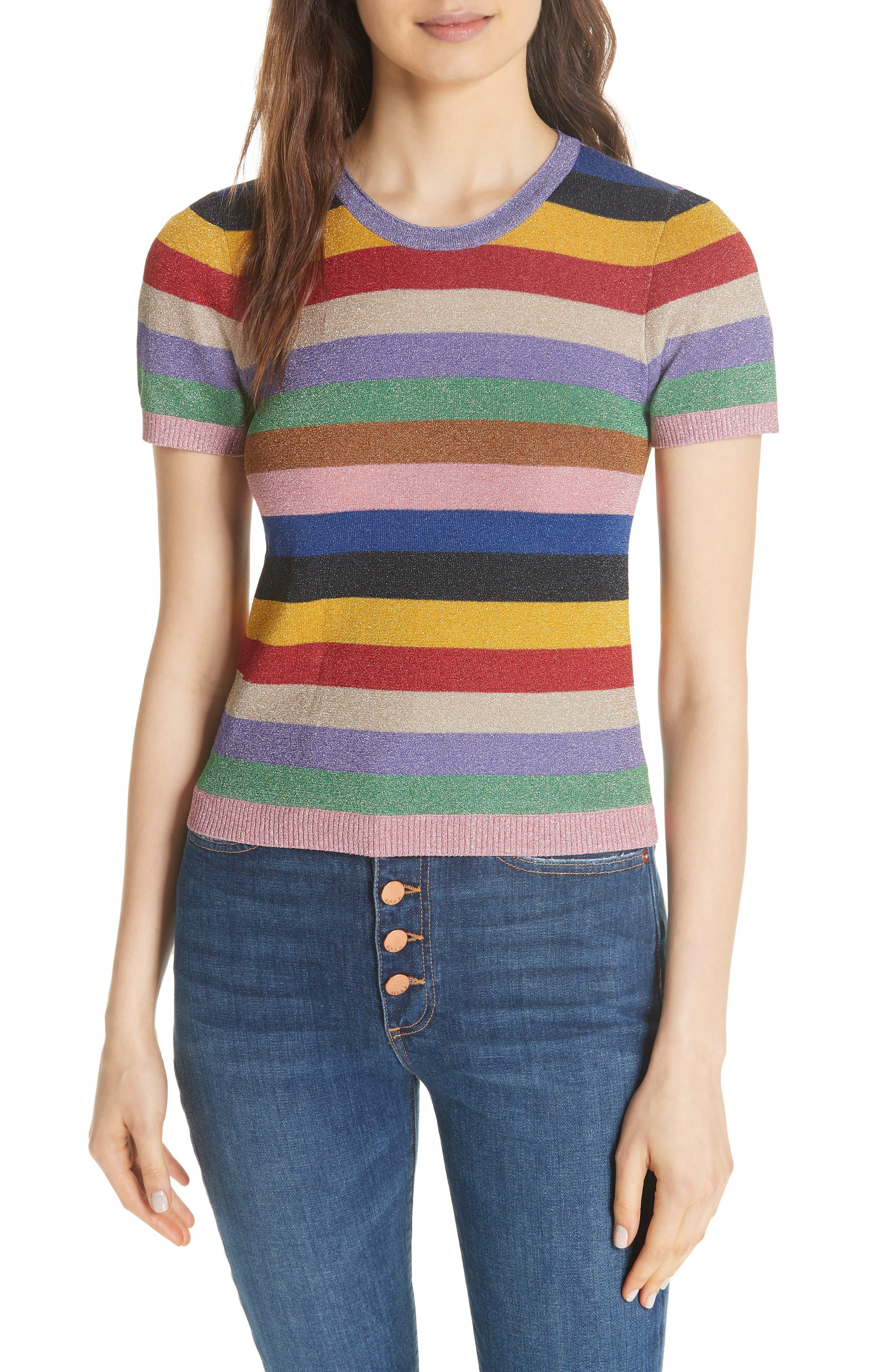 Baylor Stripe Top,                         Main,                         color, 505