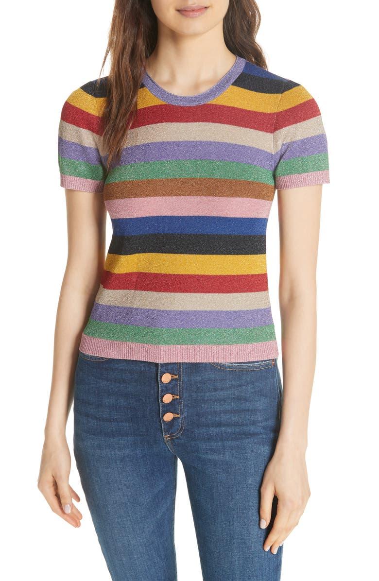 Alice + Olivia Baylor Stripe Top | Nordstrom