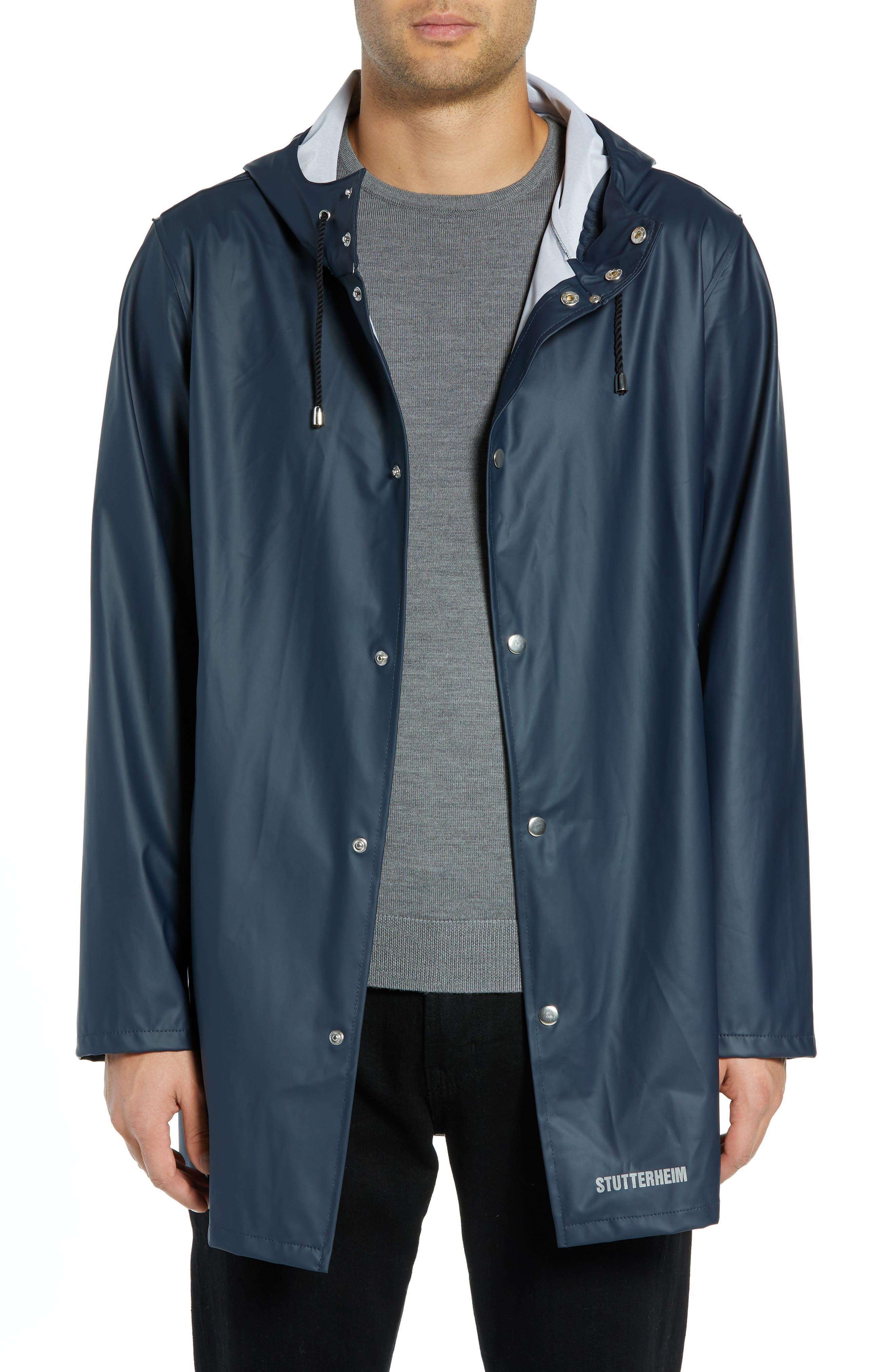 Stutterheim Stockholm Lightweight Waterproof Rain Jacket, Blue