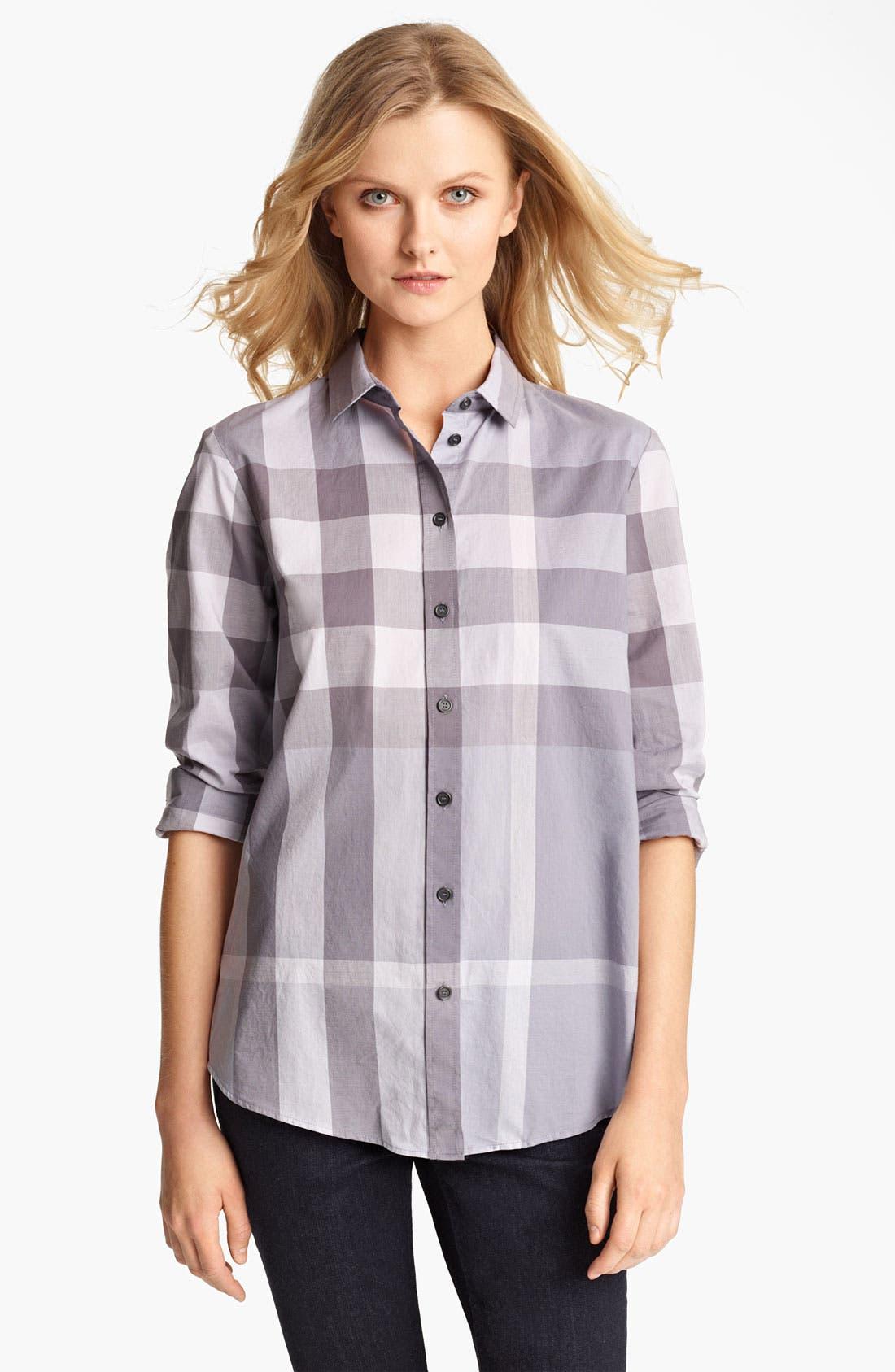 Check Woven Shirt,                             Main thumbnail 1, color,                             050