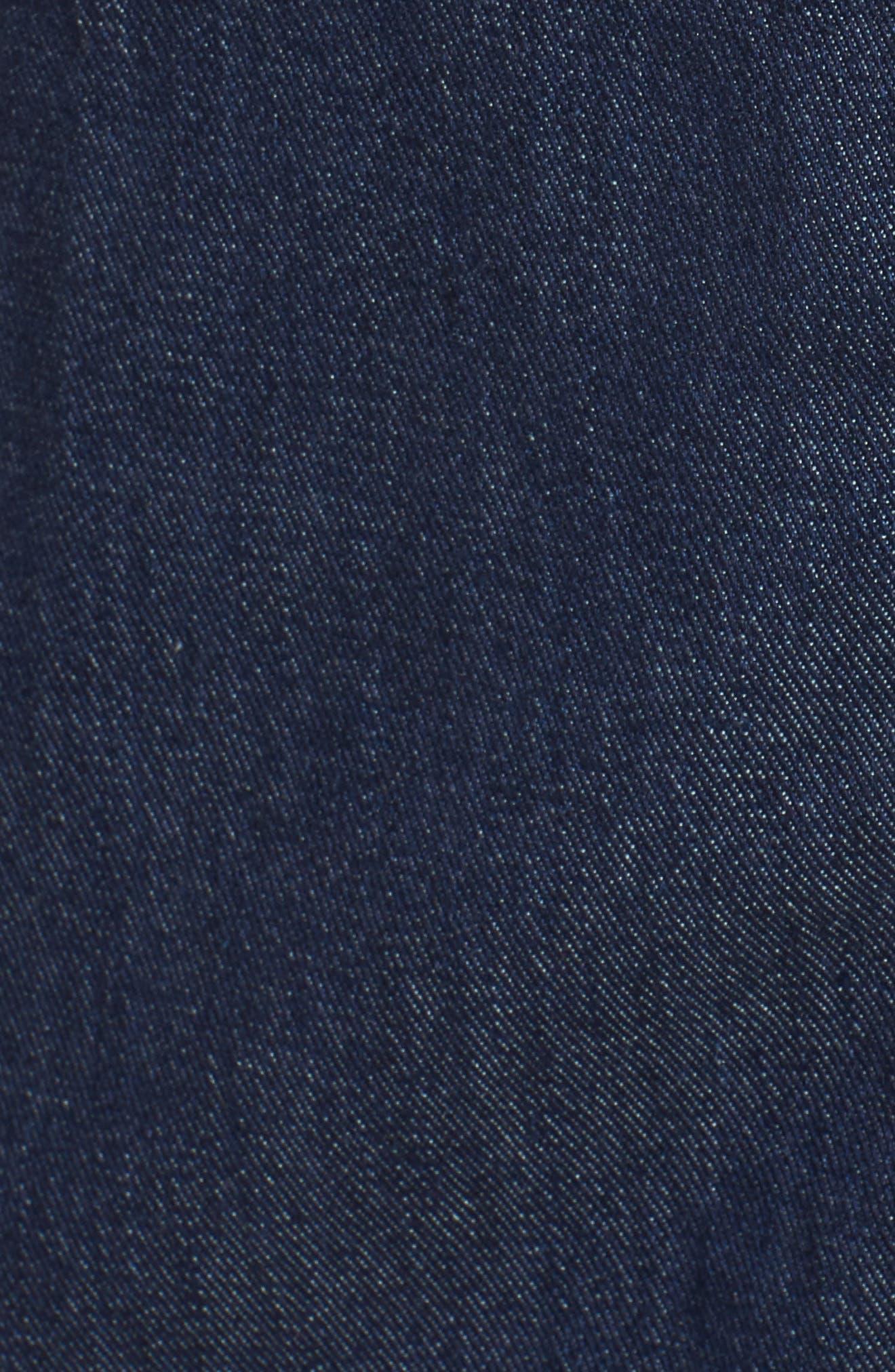 Denim Midi Dress,                             Alternate thumbnail 5, color,                             400