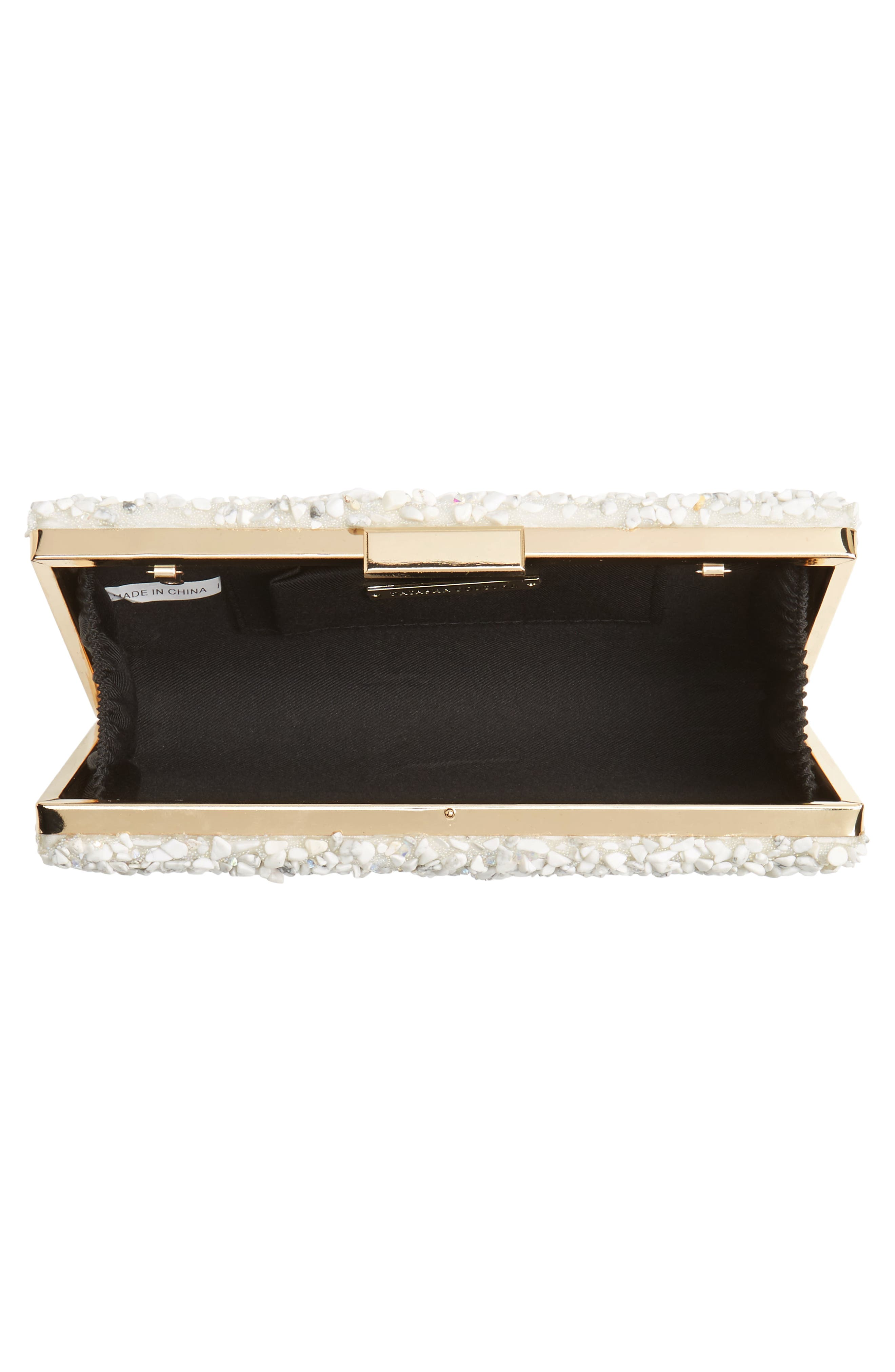 Chips Embellished Box Clutch,                             Alternate thumbnail 16, color,