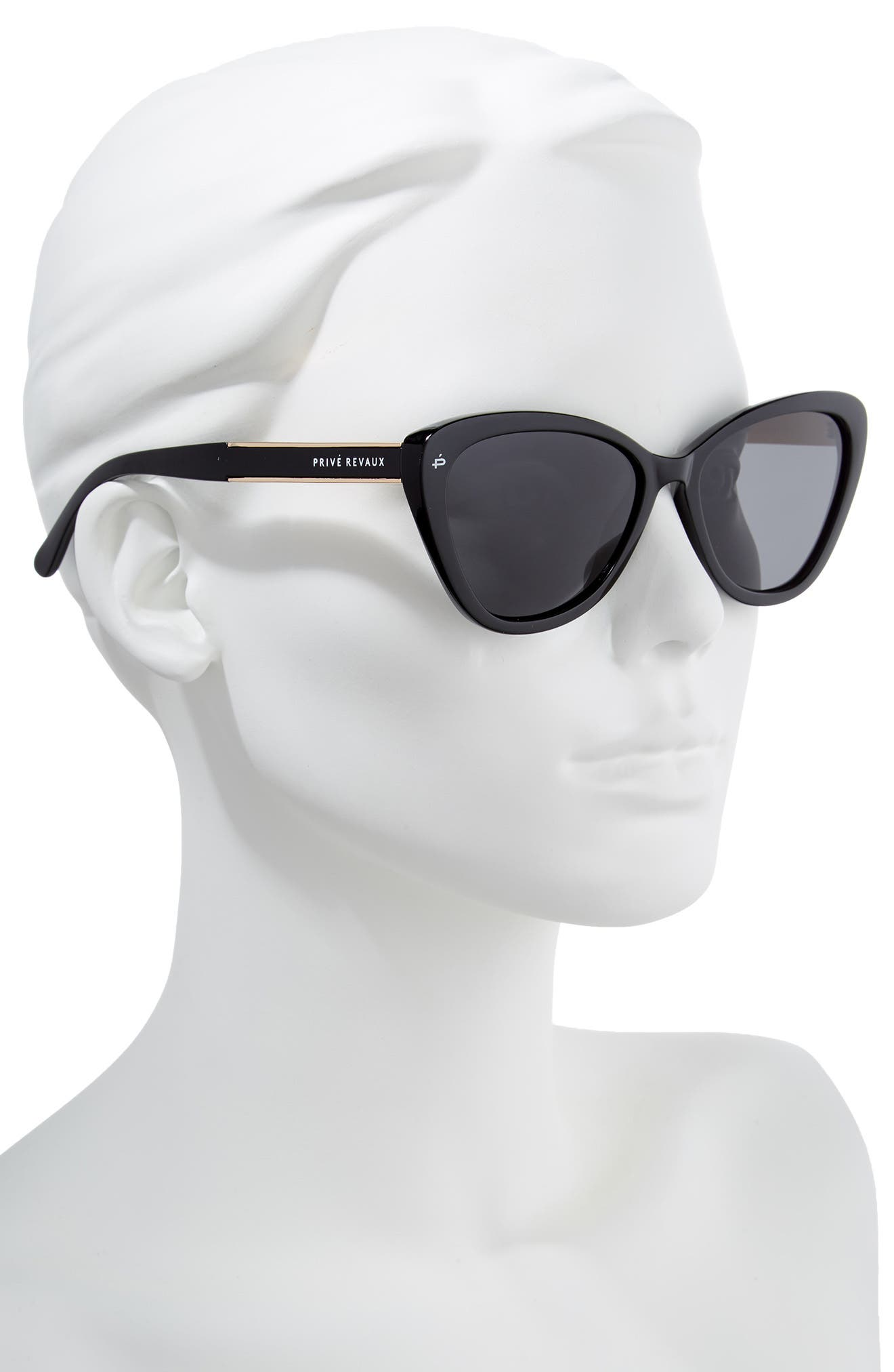 Privé Revaux The Hepburn 56mm Cat Eye Sunglasses,                             Alternate thumbnail 2, color,                             BLACK